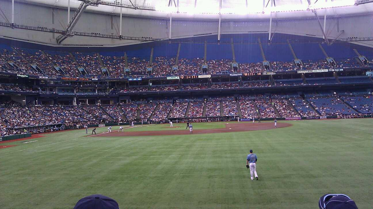Tropicana Field Section 144 Row W Seat 12