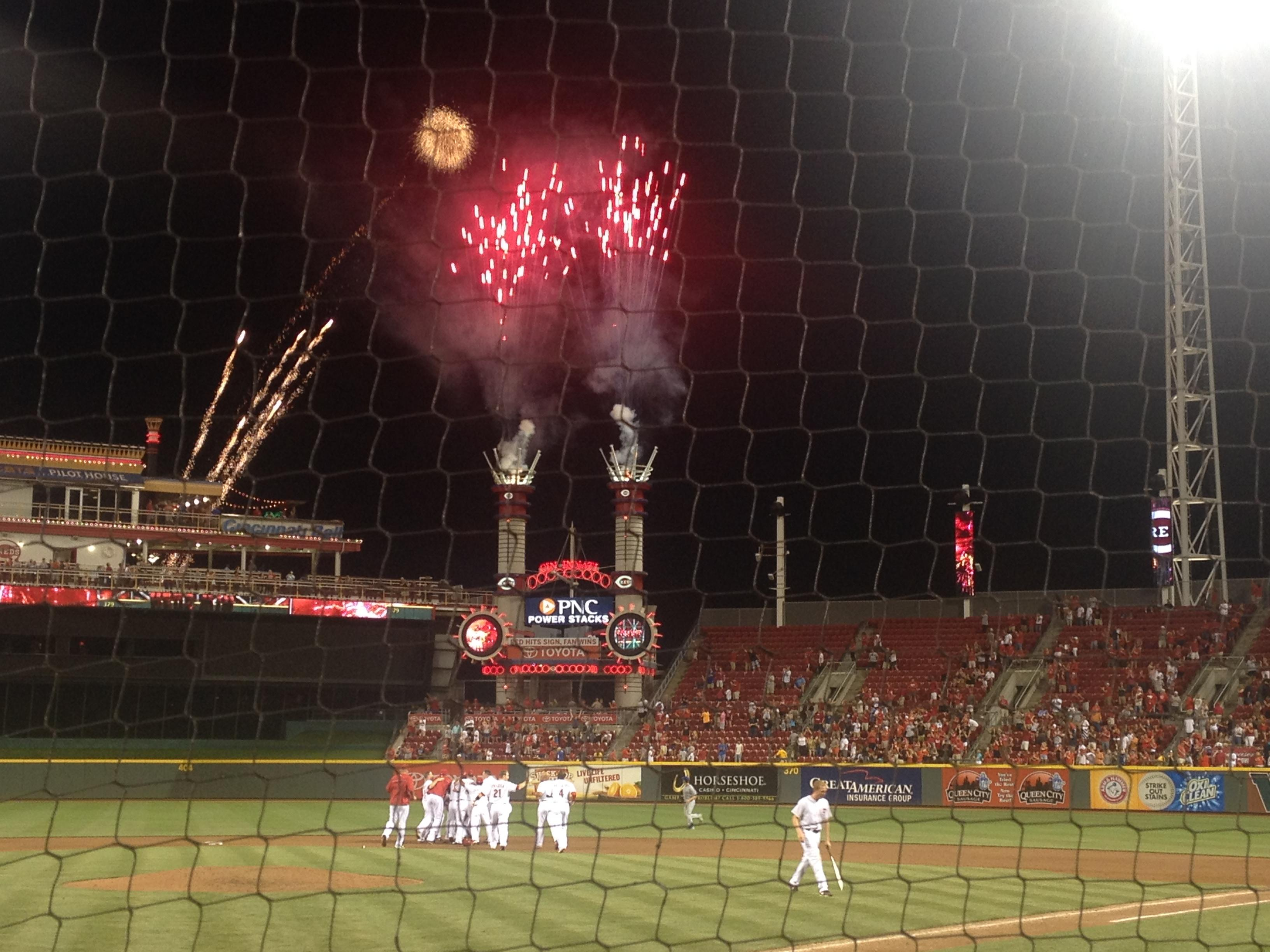 Great American Ball Park Section 3 Row 2 Seat 10