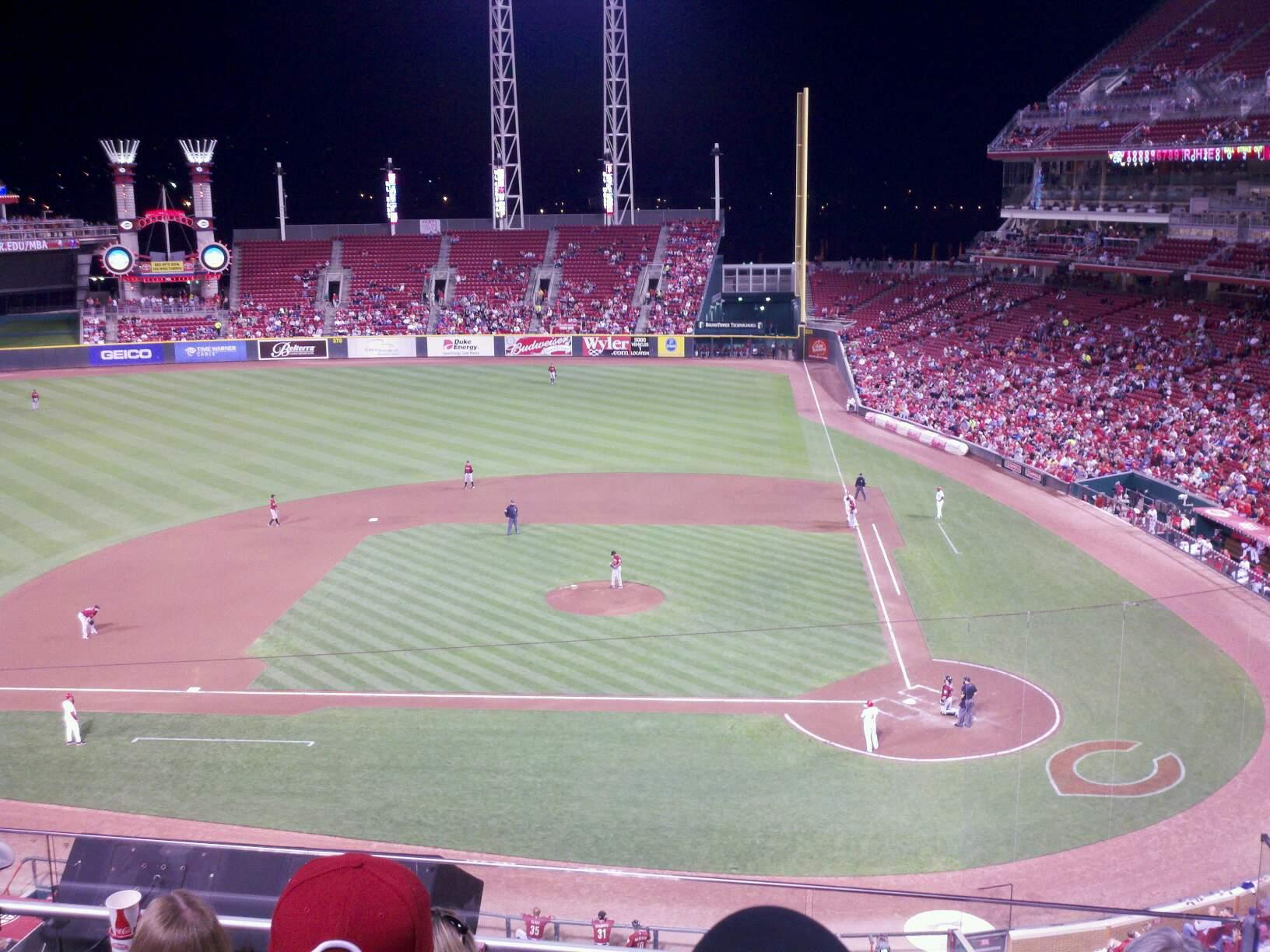 Great American Ball Park Section 419 Row E Seat 3