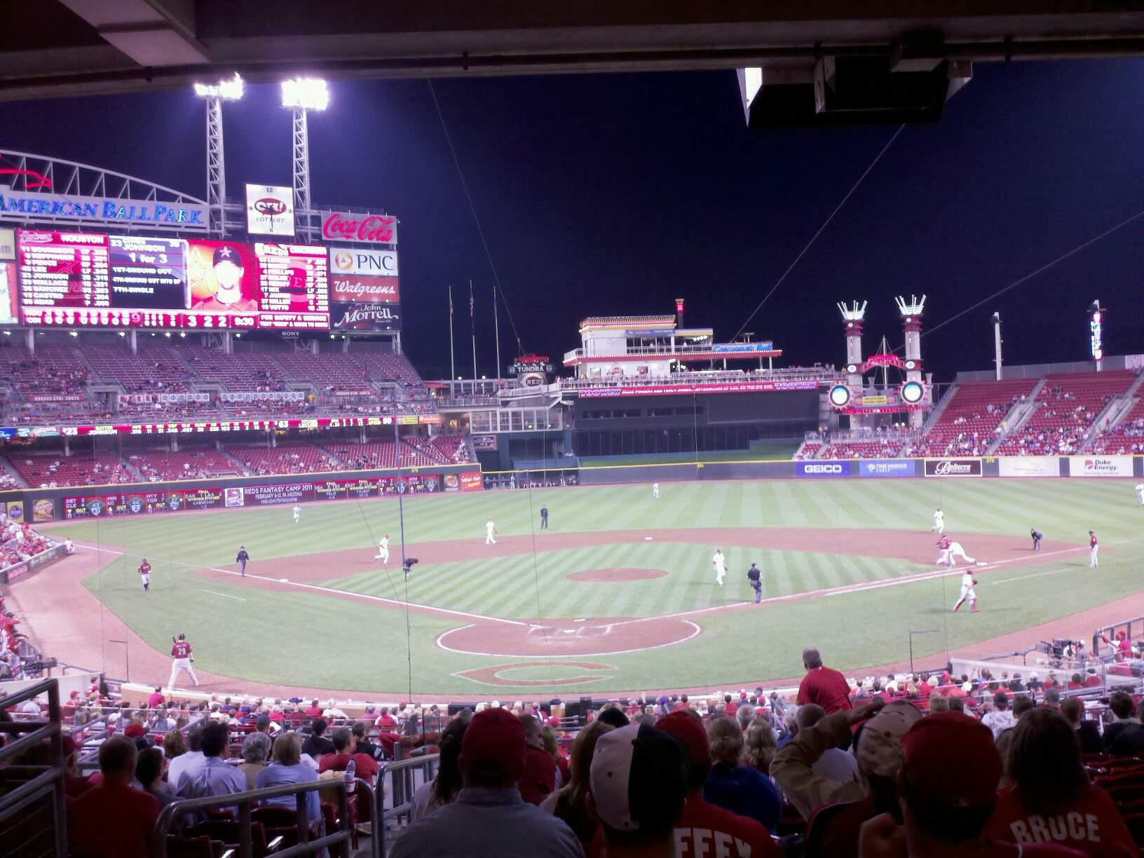 Great American Ball Park Section 124 Row O Seat 17