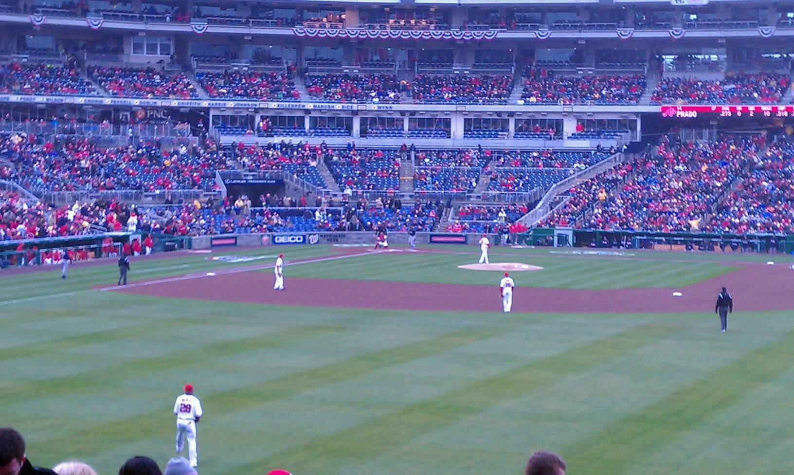 Nationals Park Section 141 Row P Seat 21