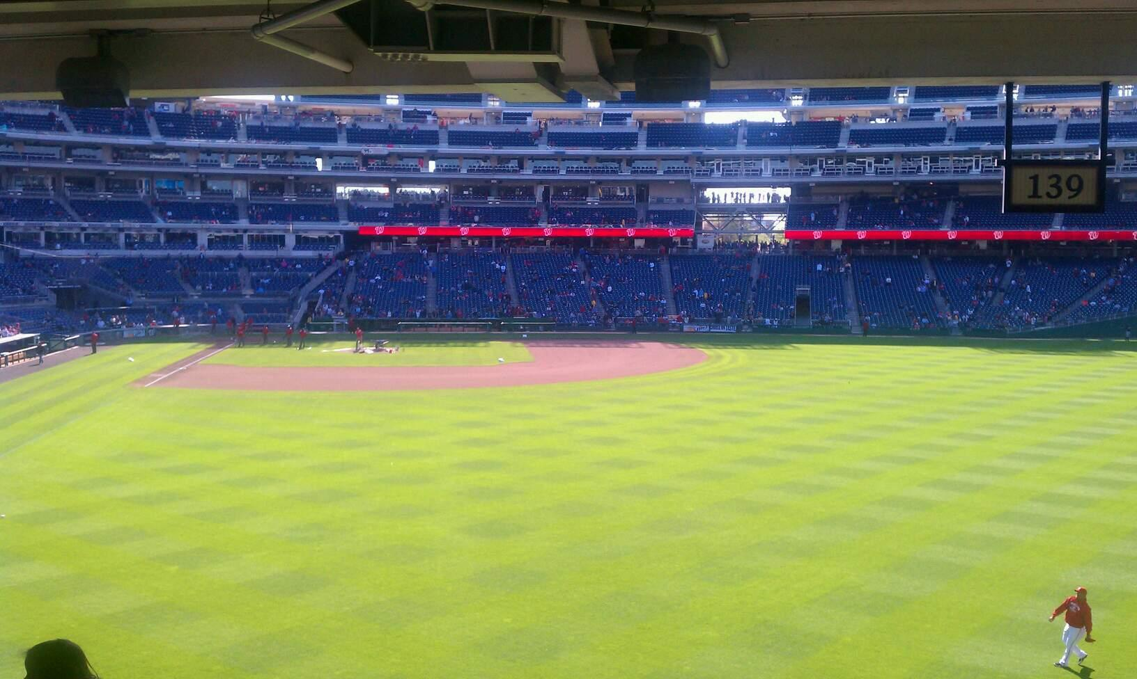 Nationals Park Section 138 Row W Seat 13