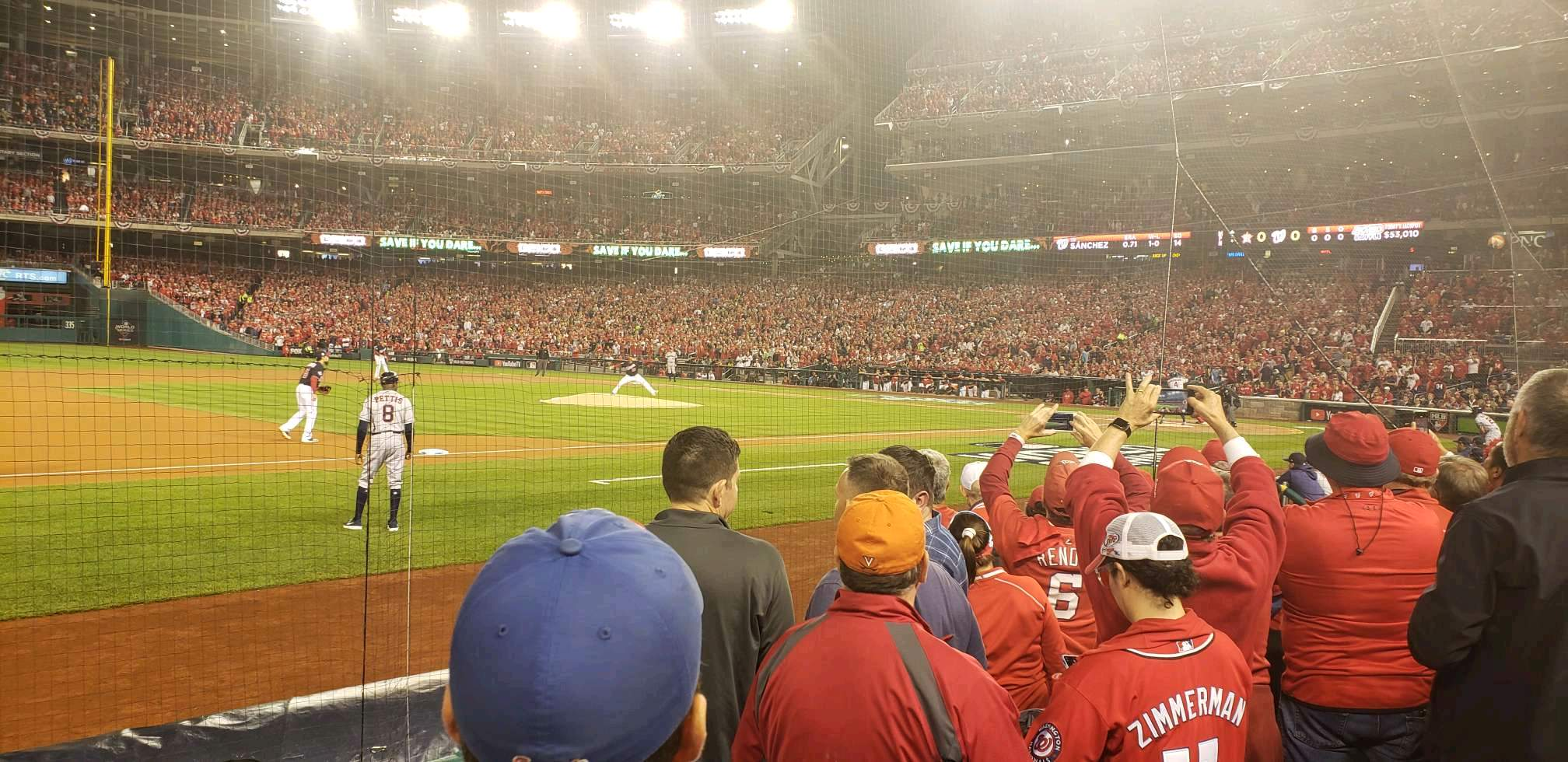 Nationals Park Section 114 Row e Seat 2