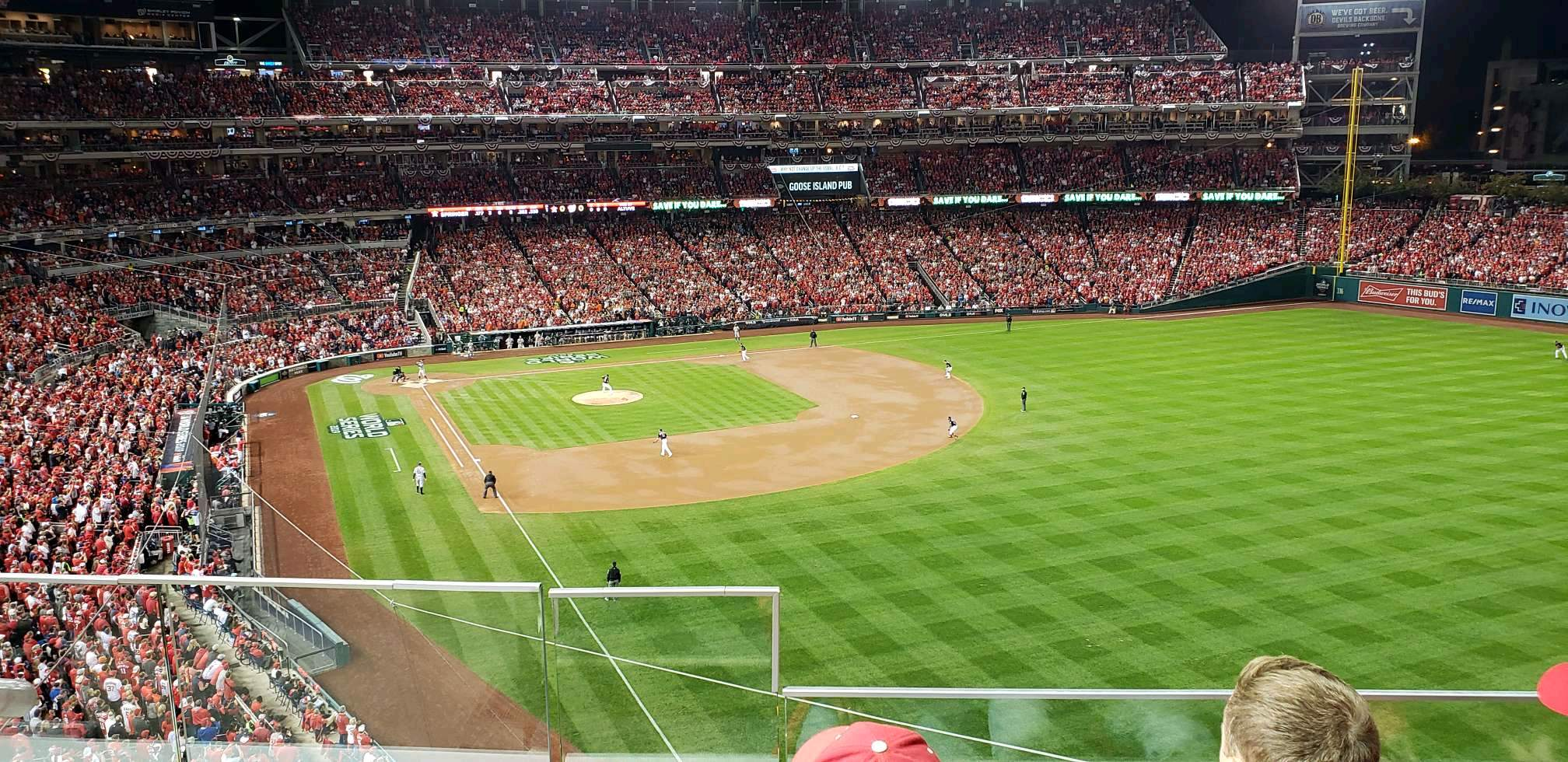 Nationals Park Section 232 Row c Seat 18