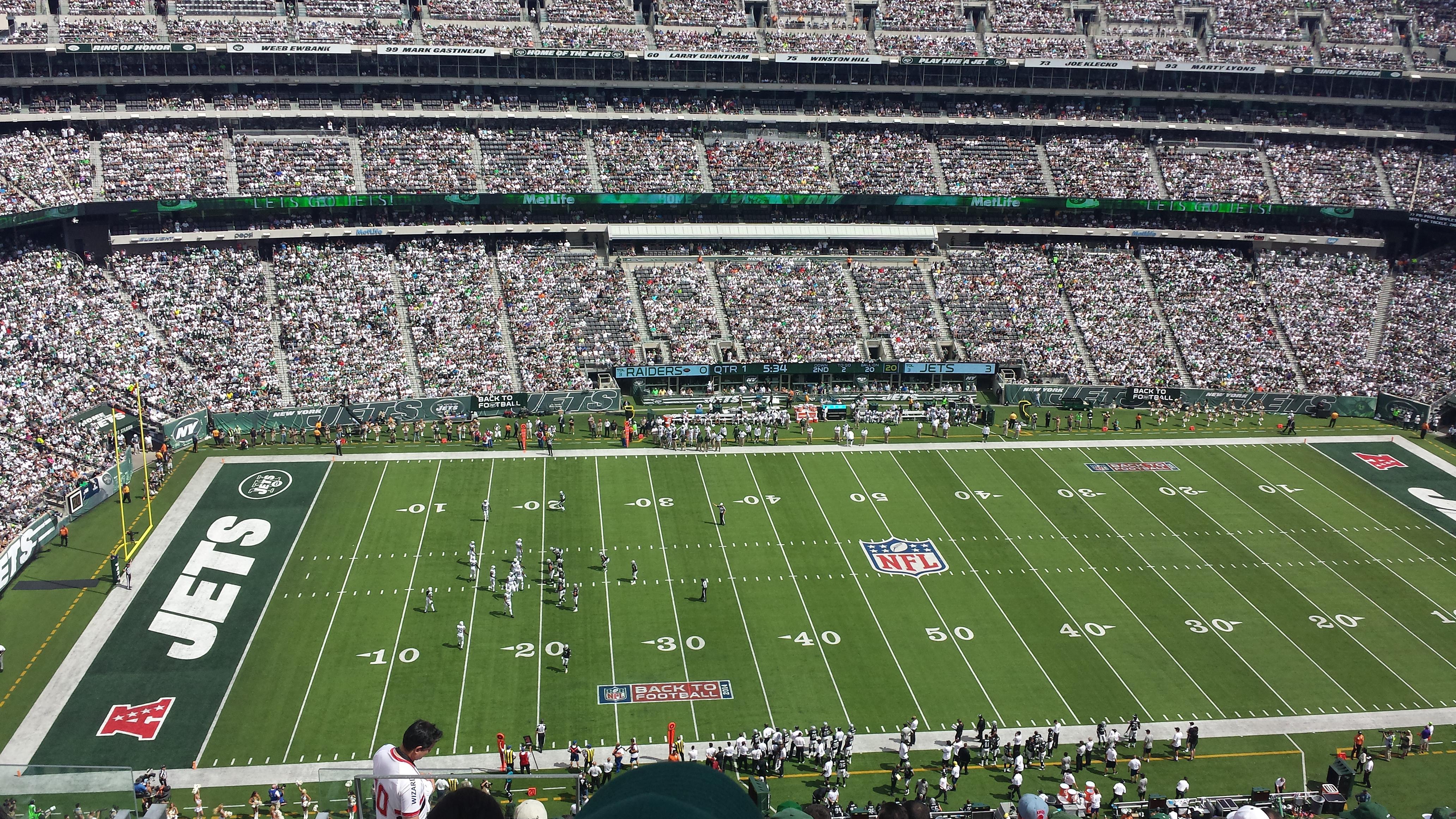 MetLife Stadium Section 340 Row 15 Seat 22
