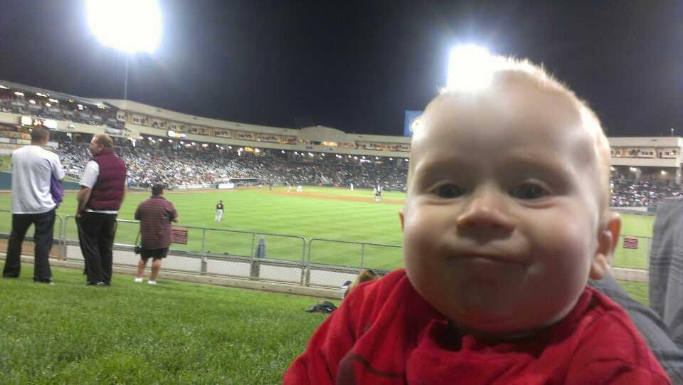 Raley Field Section grass Row open seat