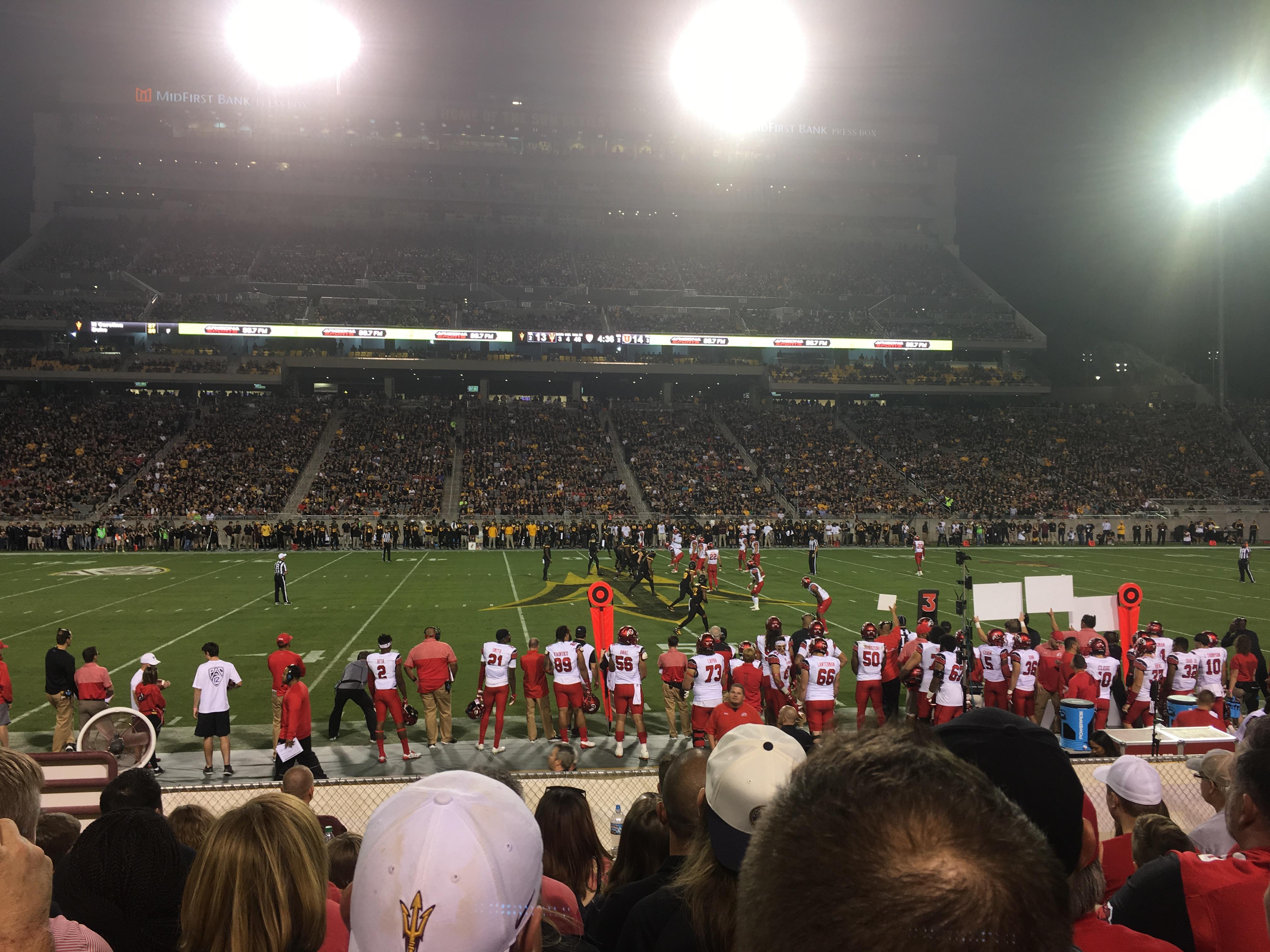 Sun Devil Stadium Section 30 Row 11 Seat 26