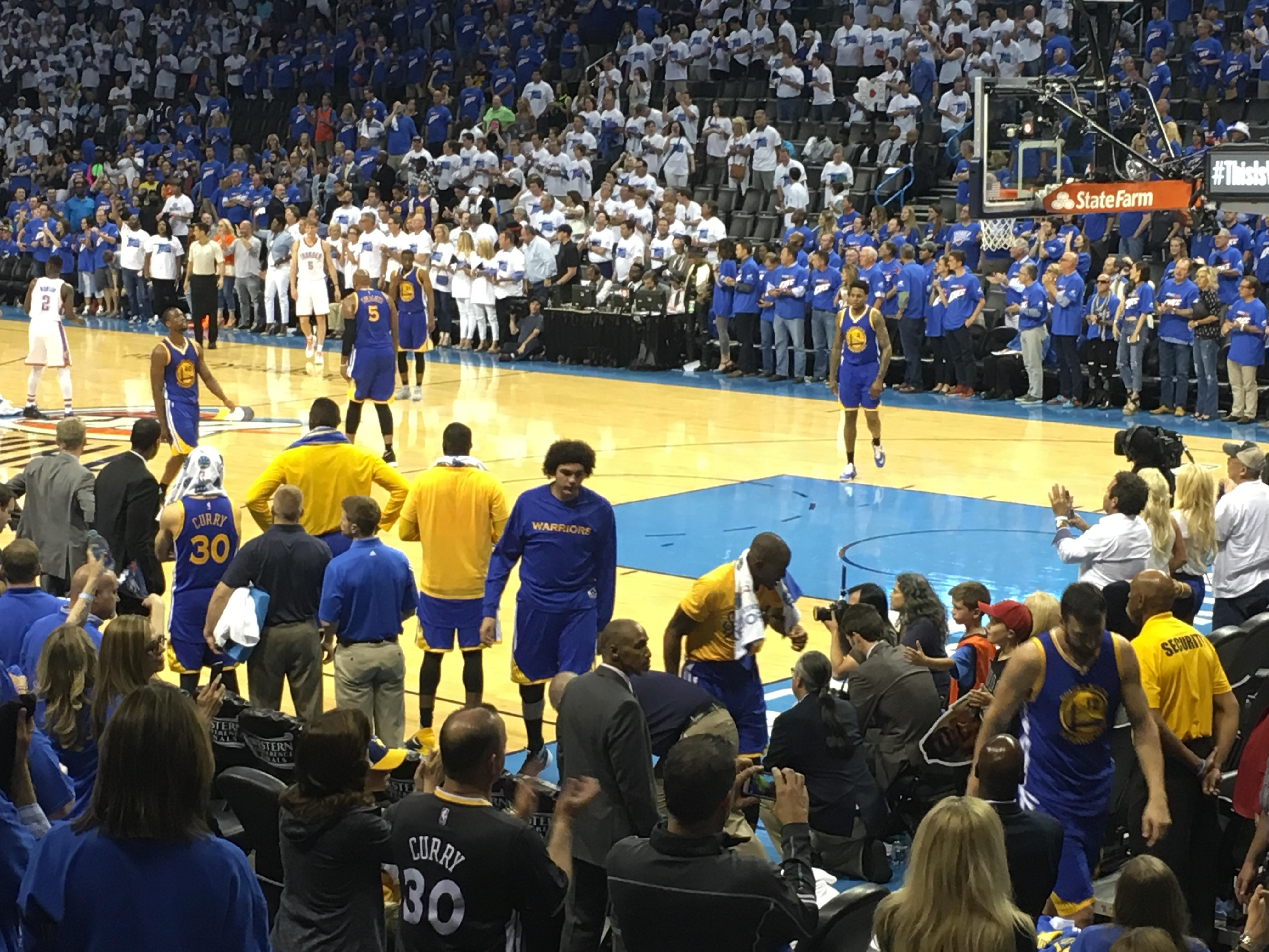 Chesapeake Energy Arena Section 113 Row G Seat 5