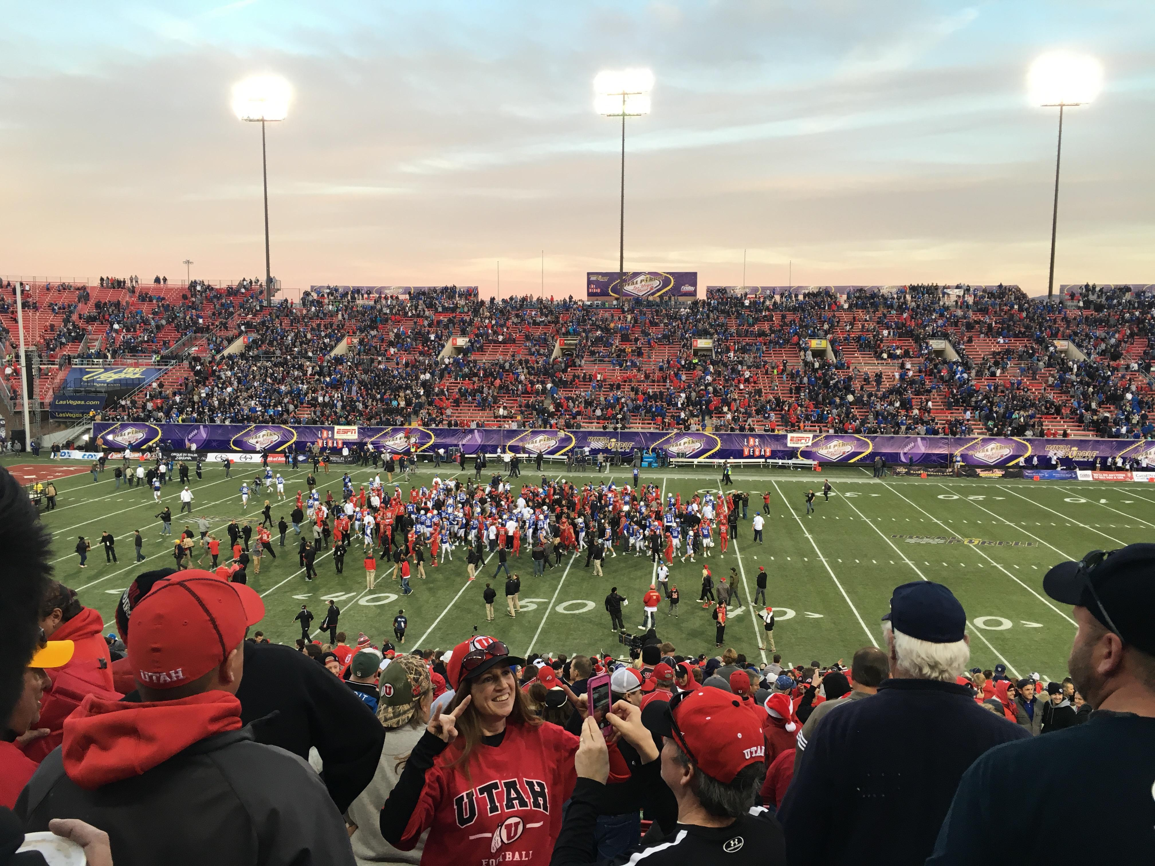 Sam Boyd Stadium Section 128 Row 30 Seat 1