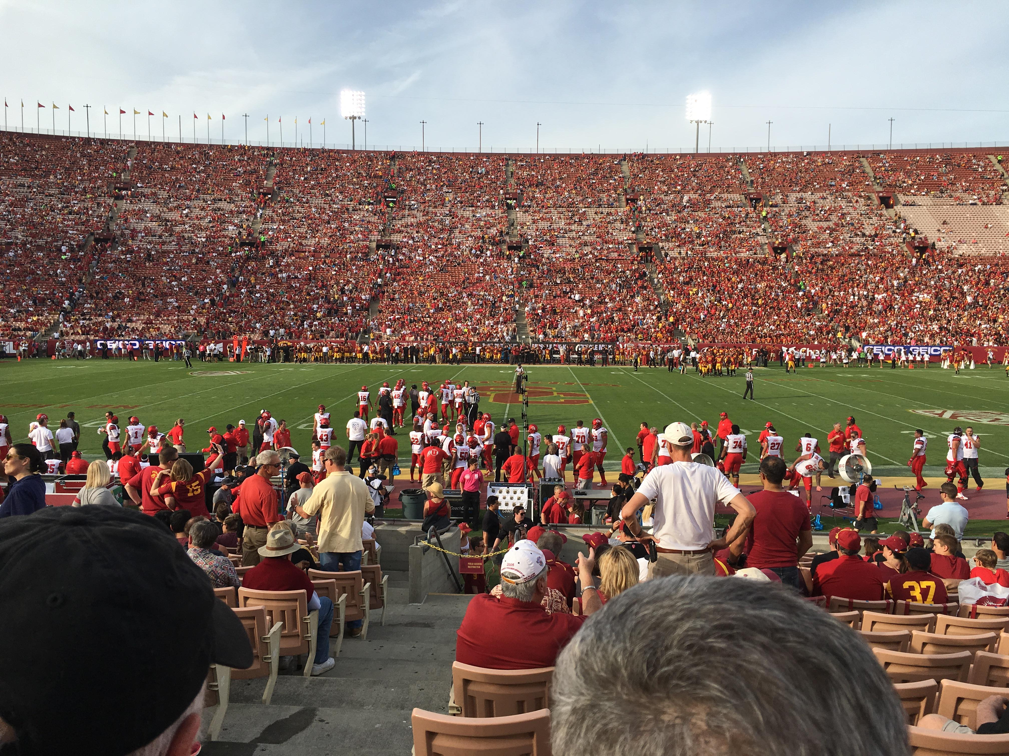 Los Angeles Memorial Coliseum Section 7H Row 17 Seat 101