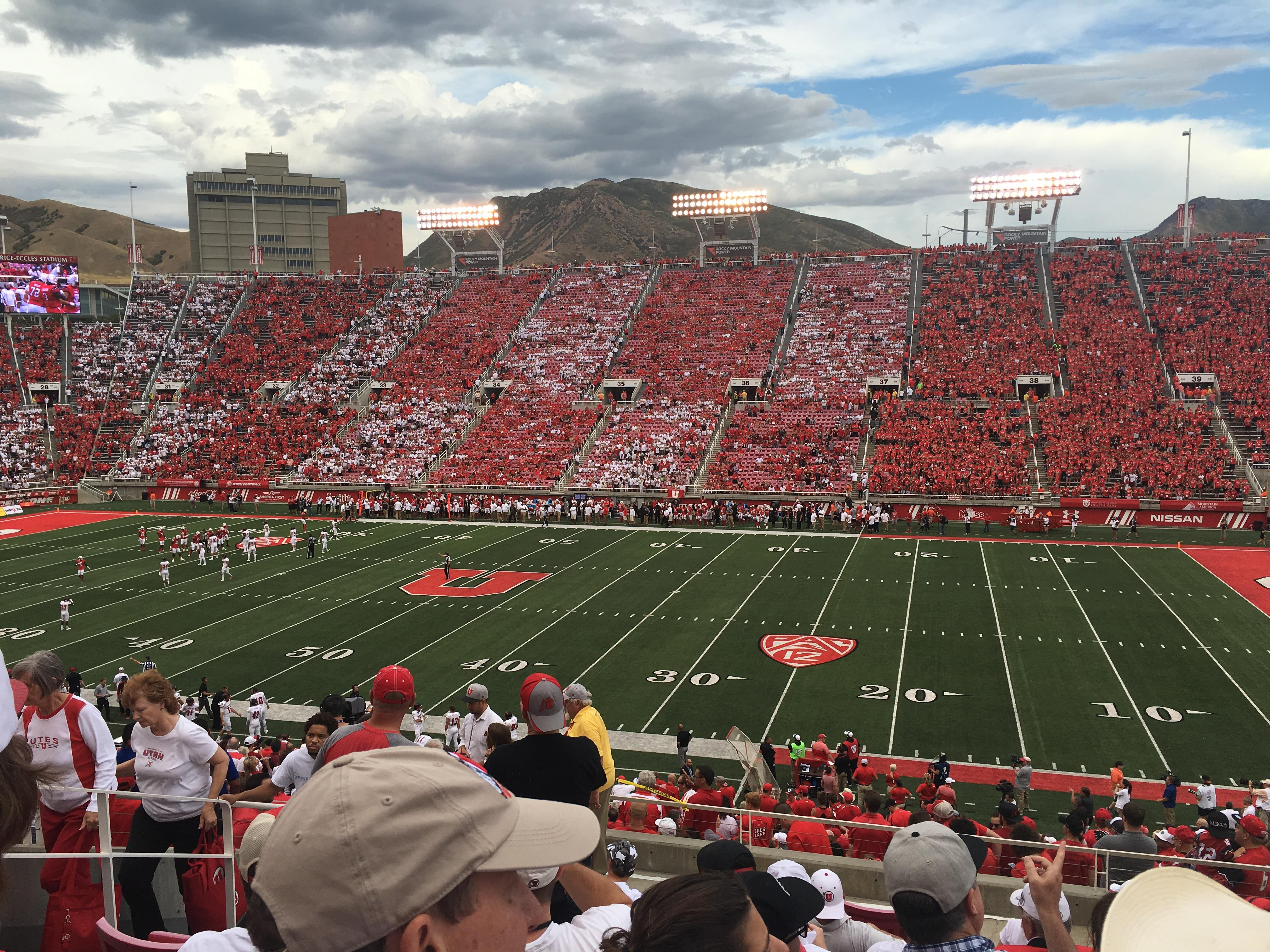 Rice-Eccles Stadium Section W10 Row 33 Seat 12