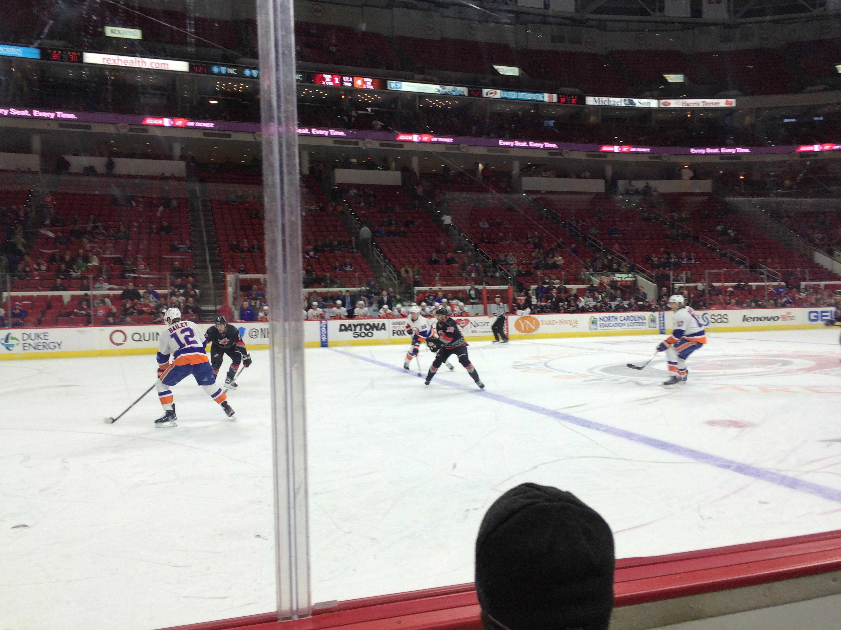 PNC Arena Section 121 Row B Seat 2