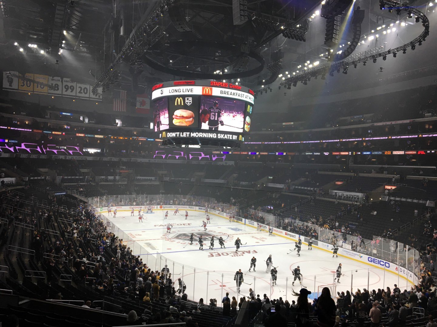 Staples Center Section 209 Row 12 Seat 22