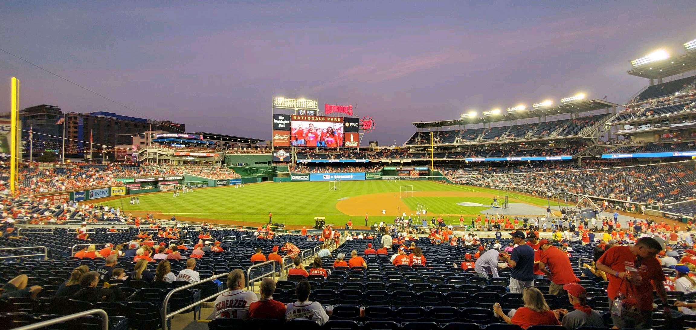 Nationals Park Section 117 Row FF Seat 15