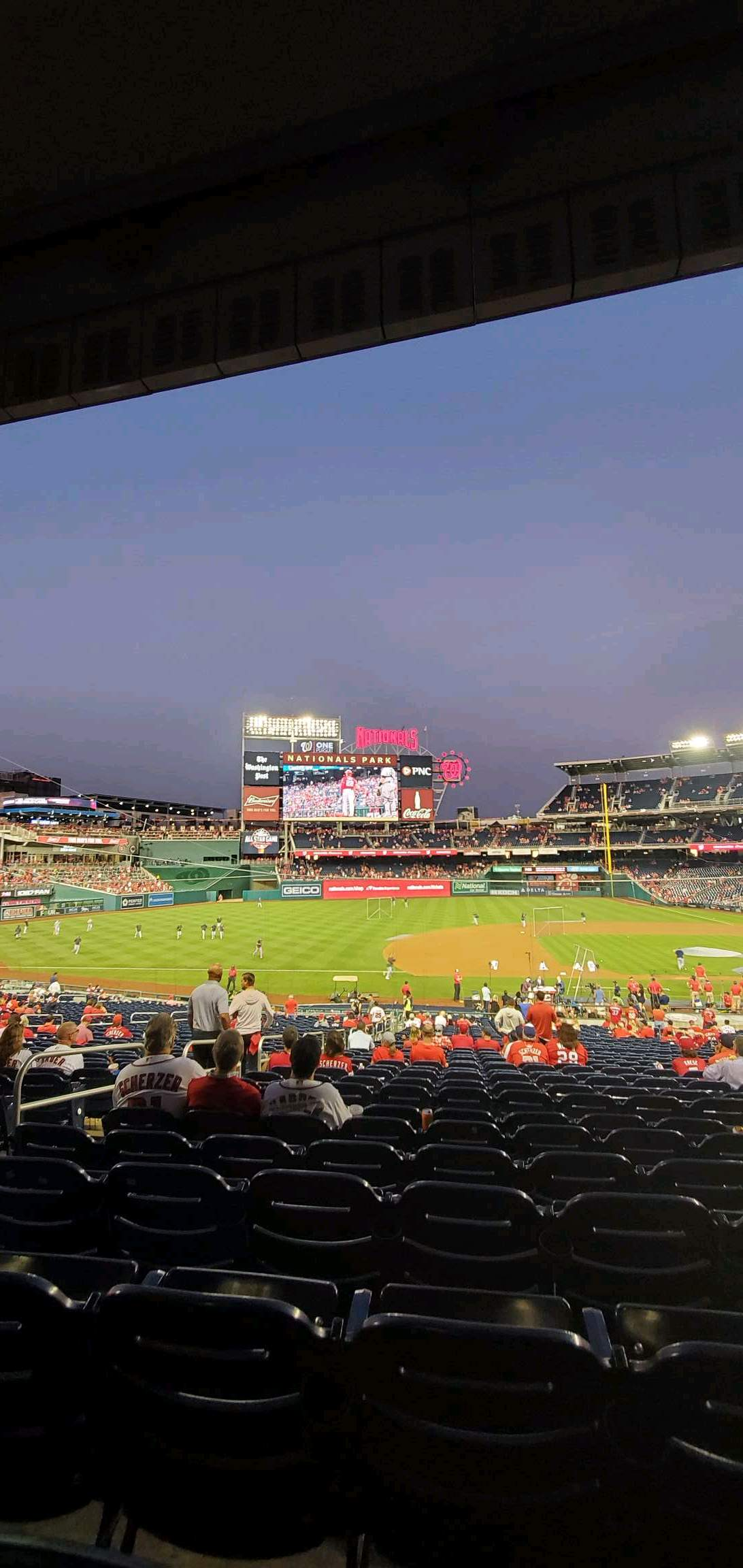 Nationals Park Section 114 Row UU Seat 14