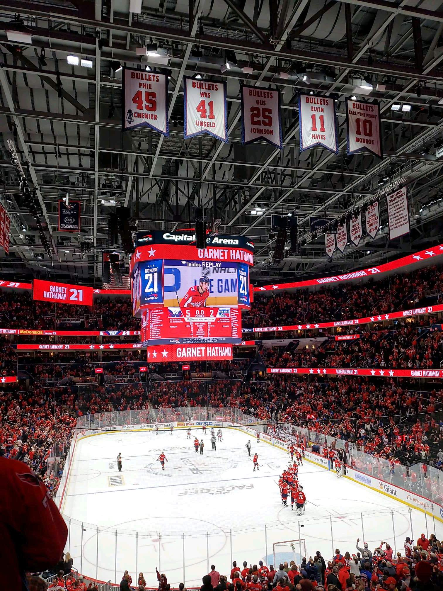 Capital One Arena Section 104 Row Y