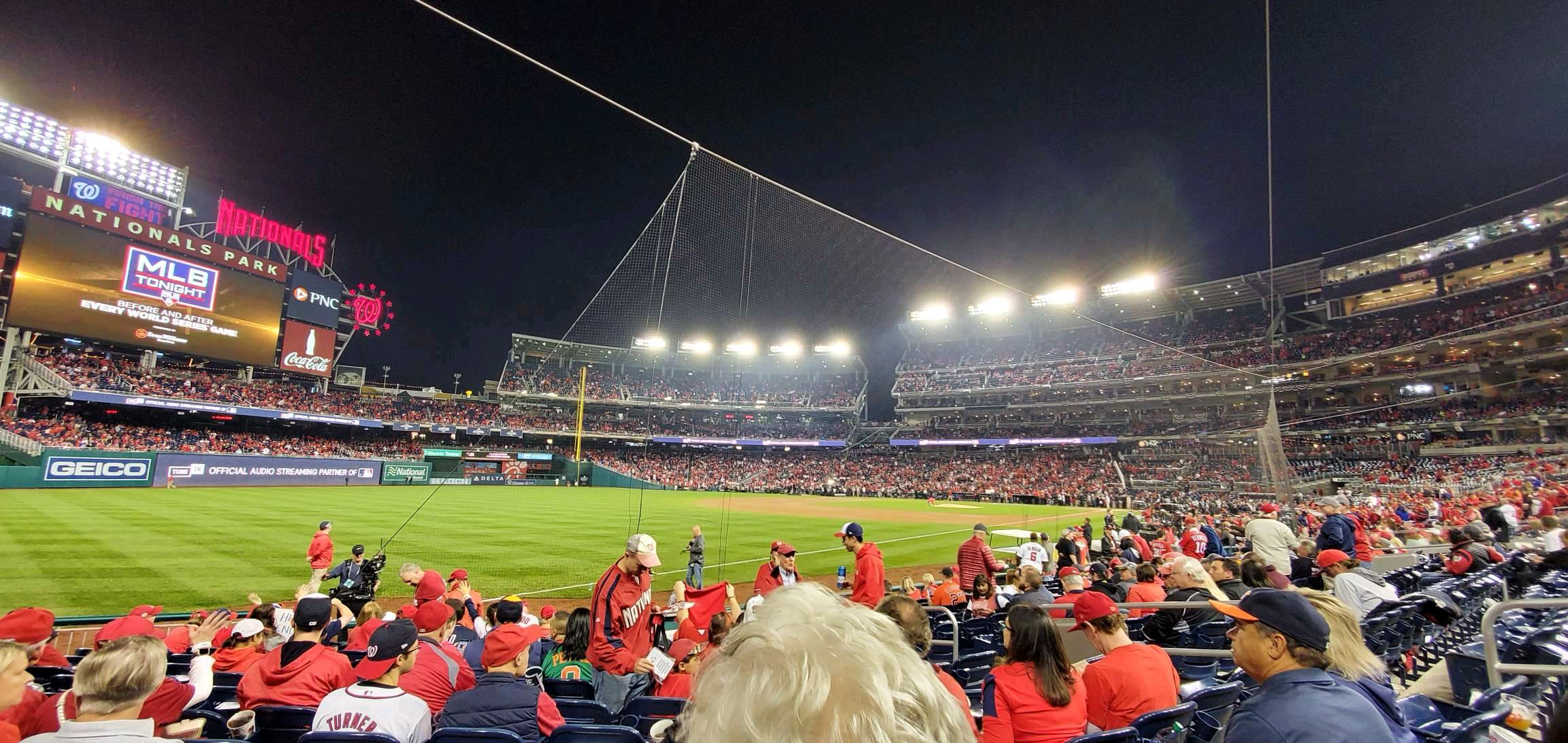 Nationals Park Section 110 Row M Seat 9