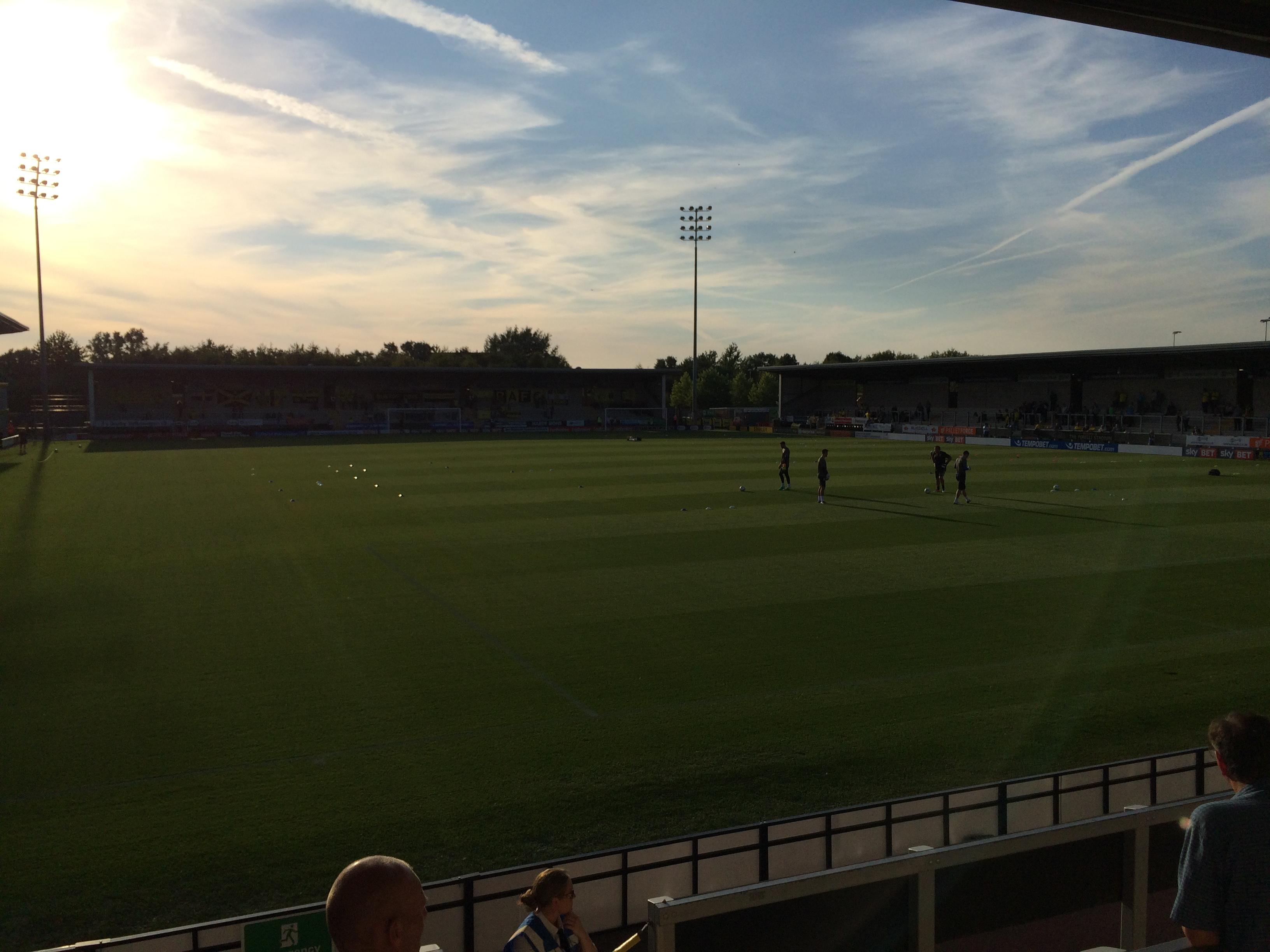 Pirelli Stadium Section Away stand Row N/a Seat Left of goal