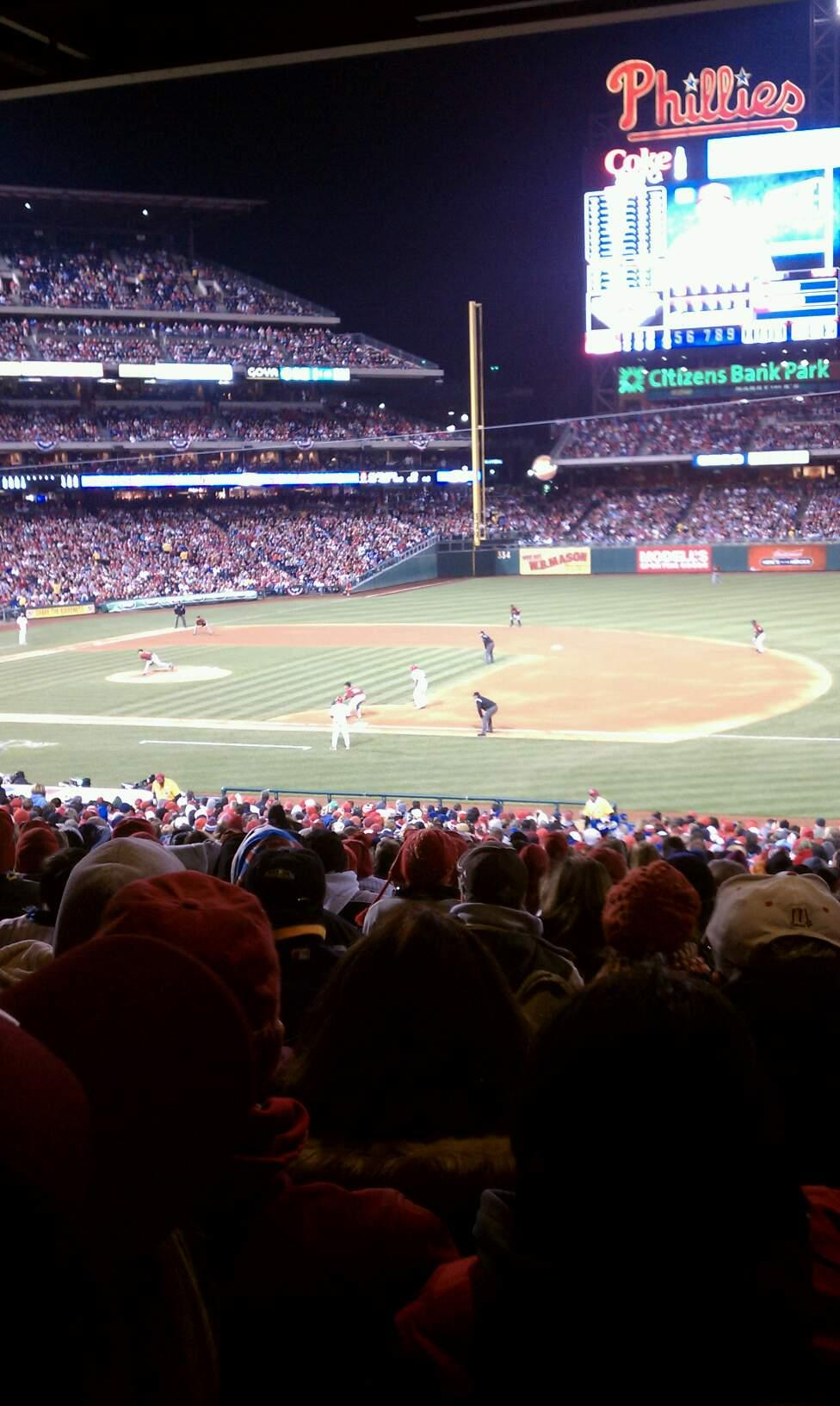 Citizens Bank Park Section 114 Row 39 Seat 10