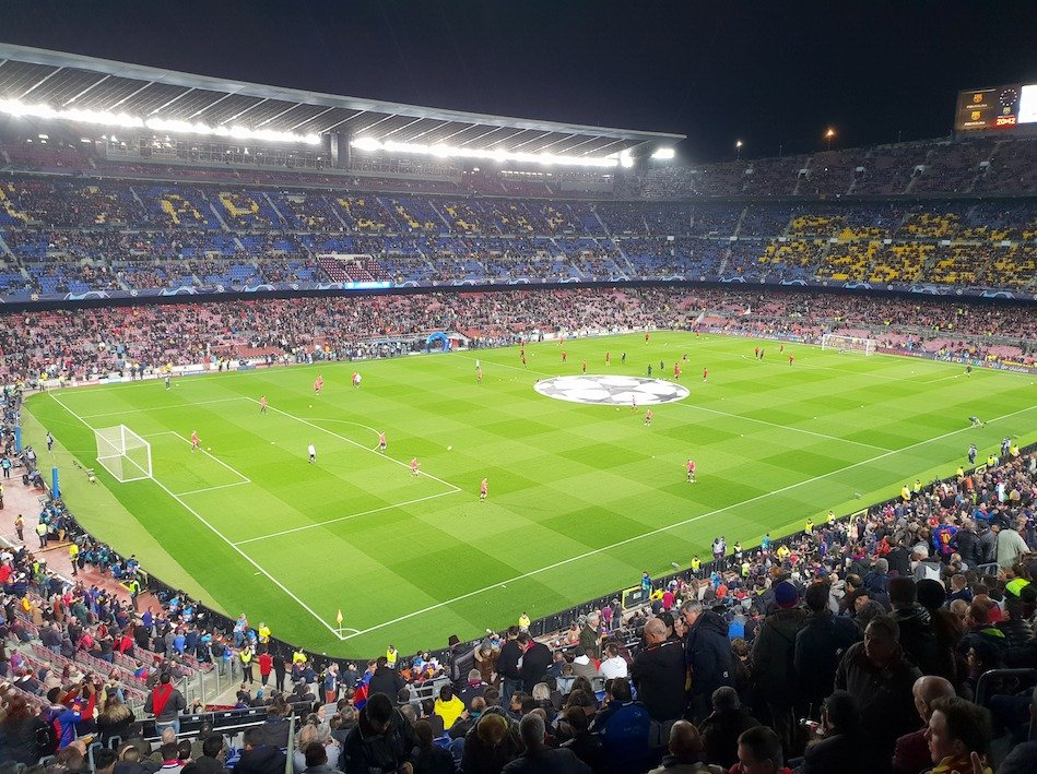 Camp Nou Section 329 Row 35 Seat 108