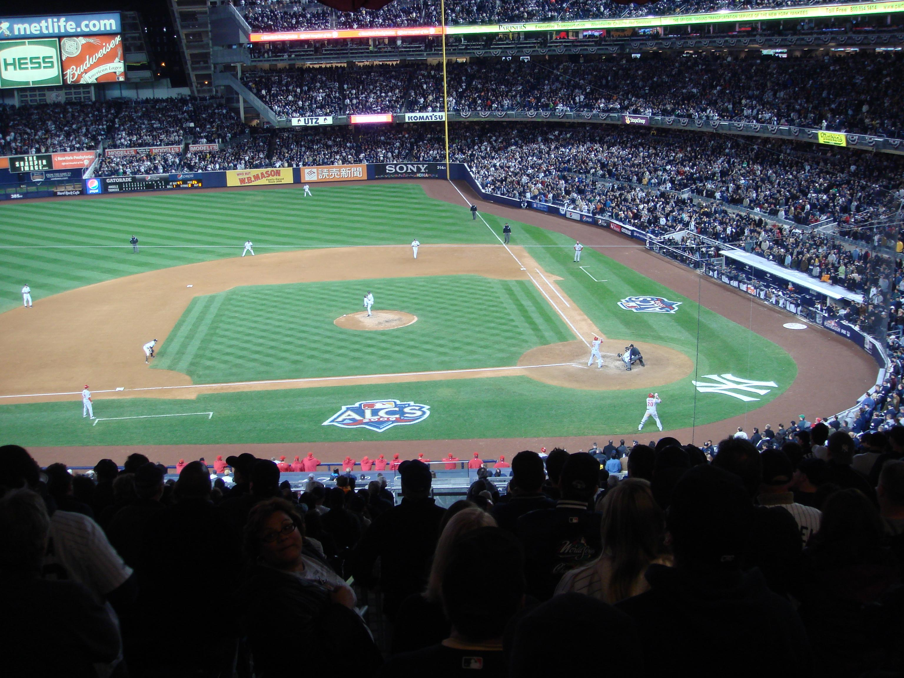 Yankee Stadium Covered Seats What Rows In Section 215 218