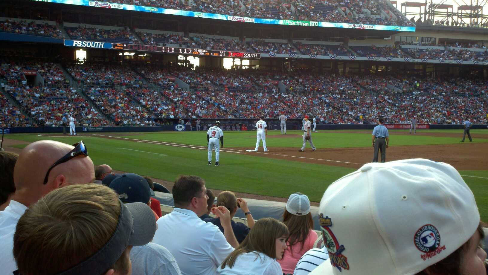 Turner Field Section 119L Row 6 Seat 102