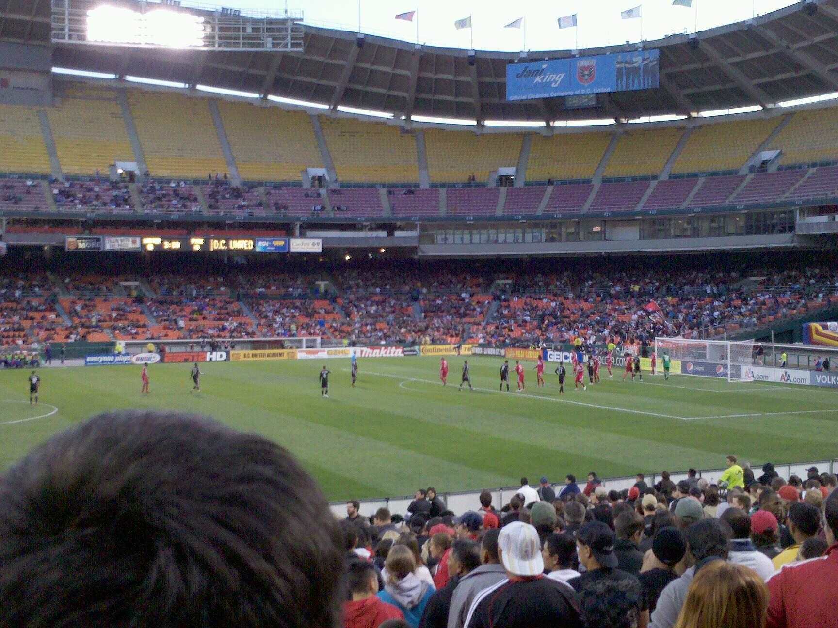 Rfk Stadium Section 233 Row 9 Seat 4