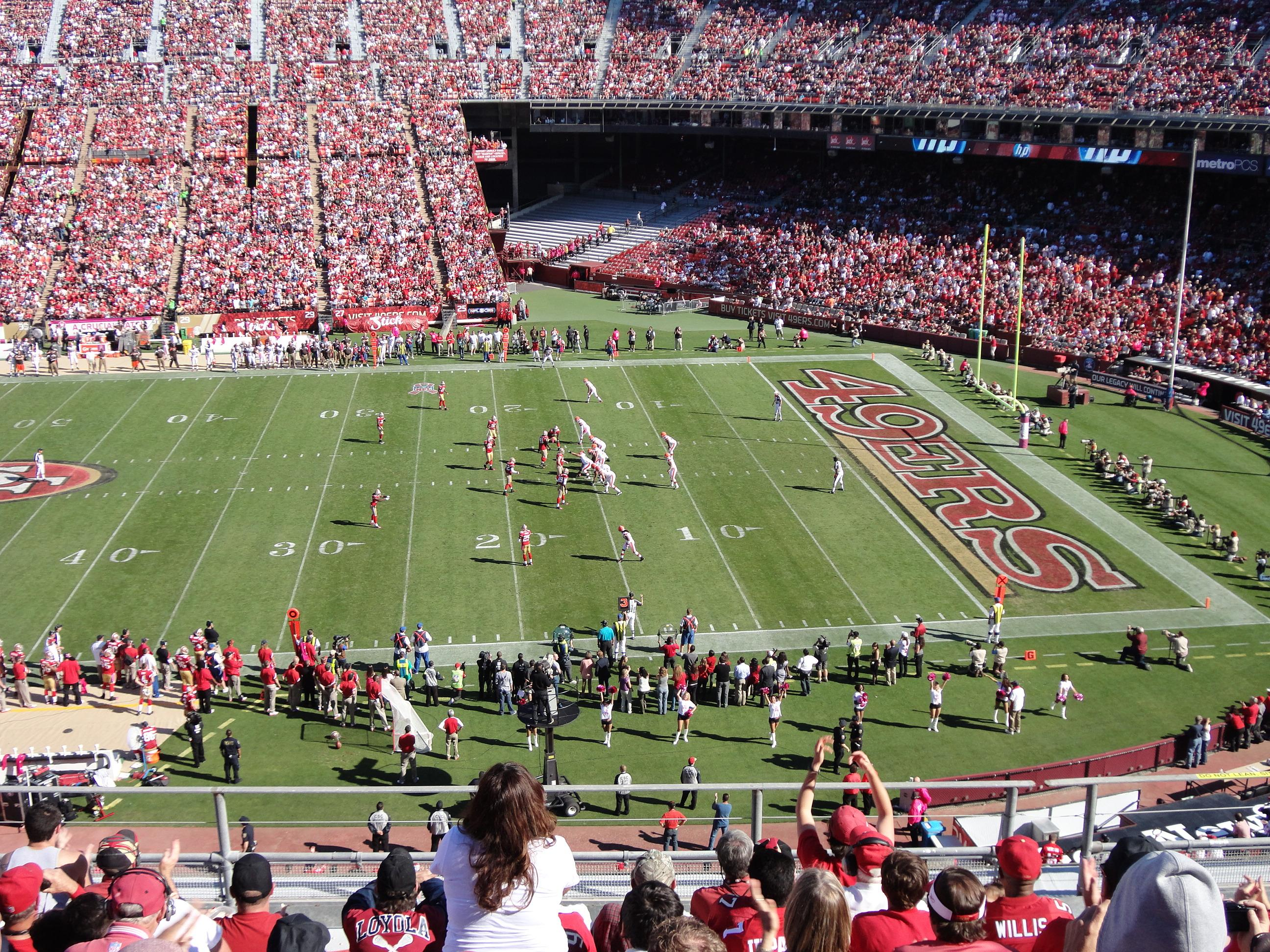 Candlestick Park Section UR18 Row 1 Seat 10