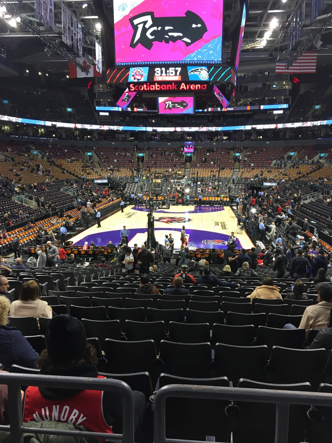 Scotiabank Arena Section 102 Row 18 Seat 14