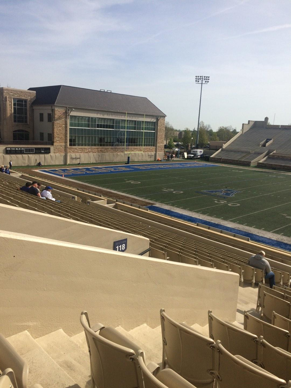 H. A. Chapman Stadium Section 118 Row 23 Seat 23