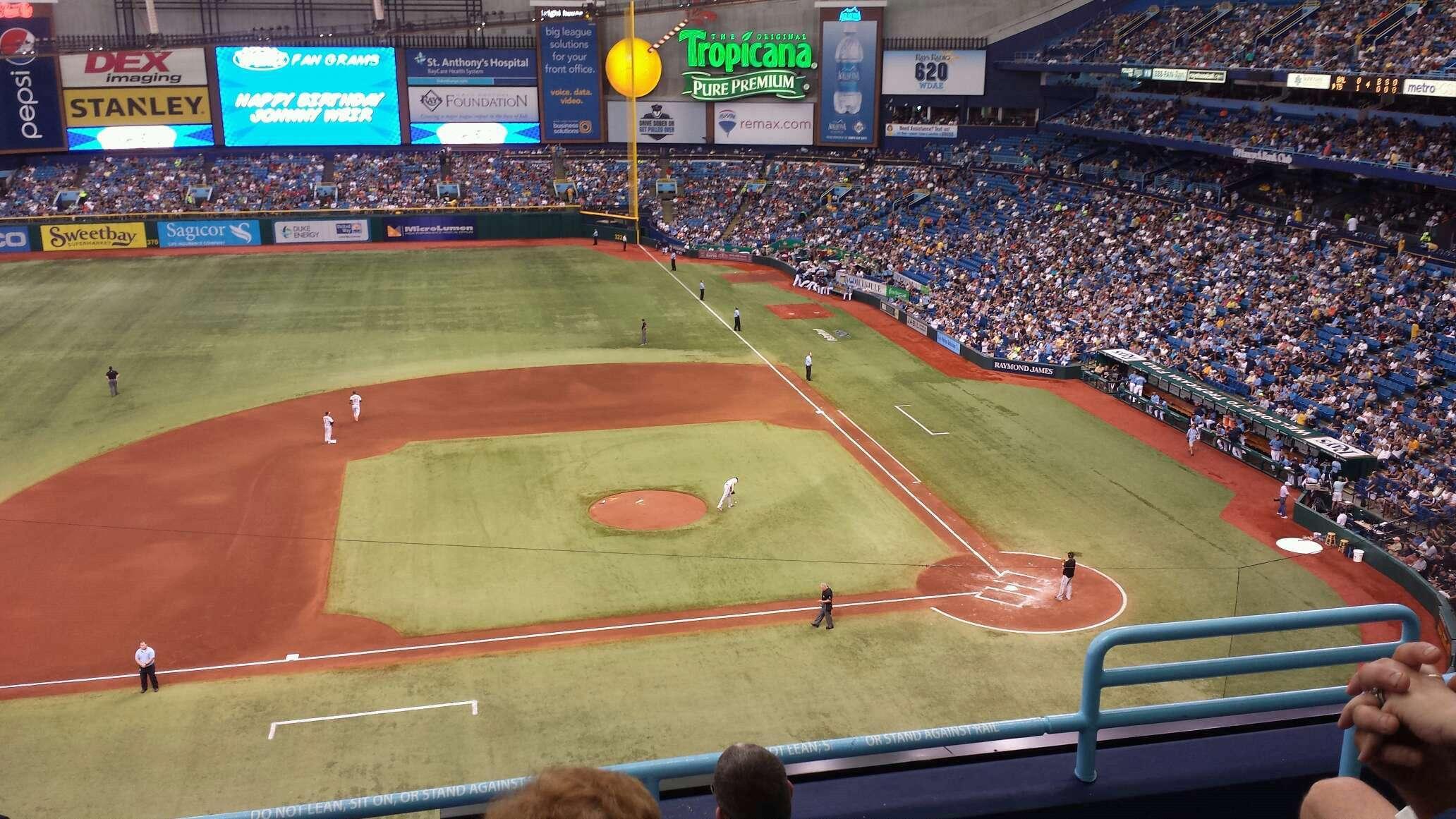 Tropicana Field Section 311 Row E Seat 17 Tampa Bay Rays
