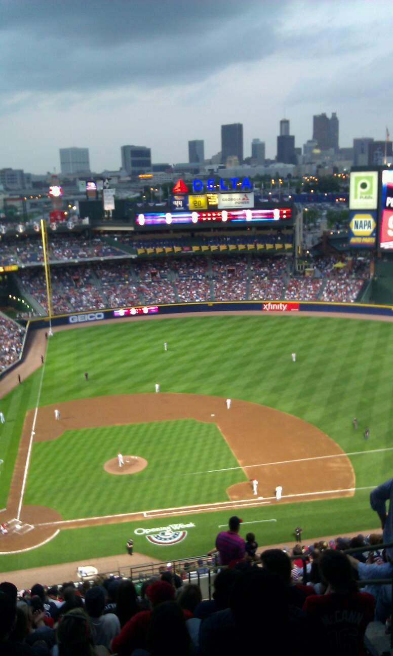 Turner Field Section 409 Row 25 Seat 3