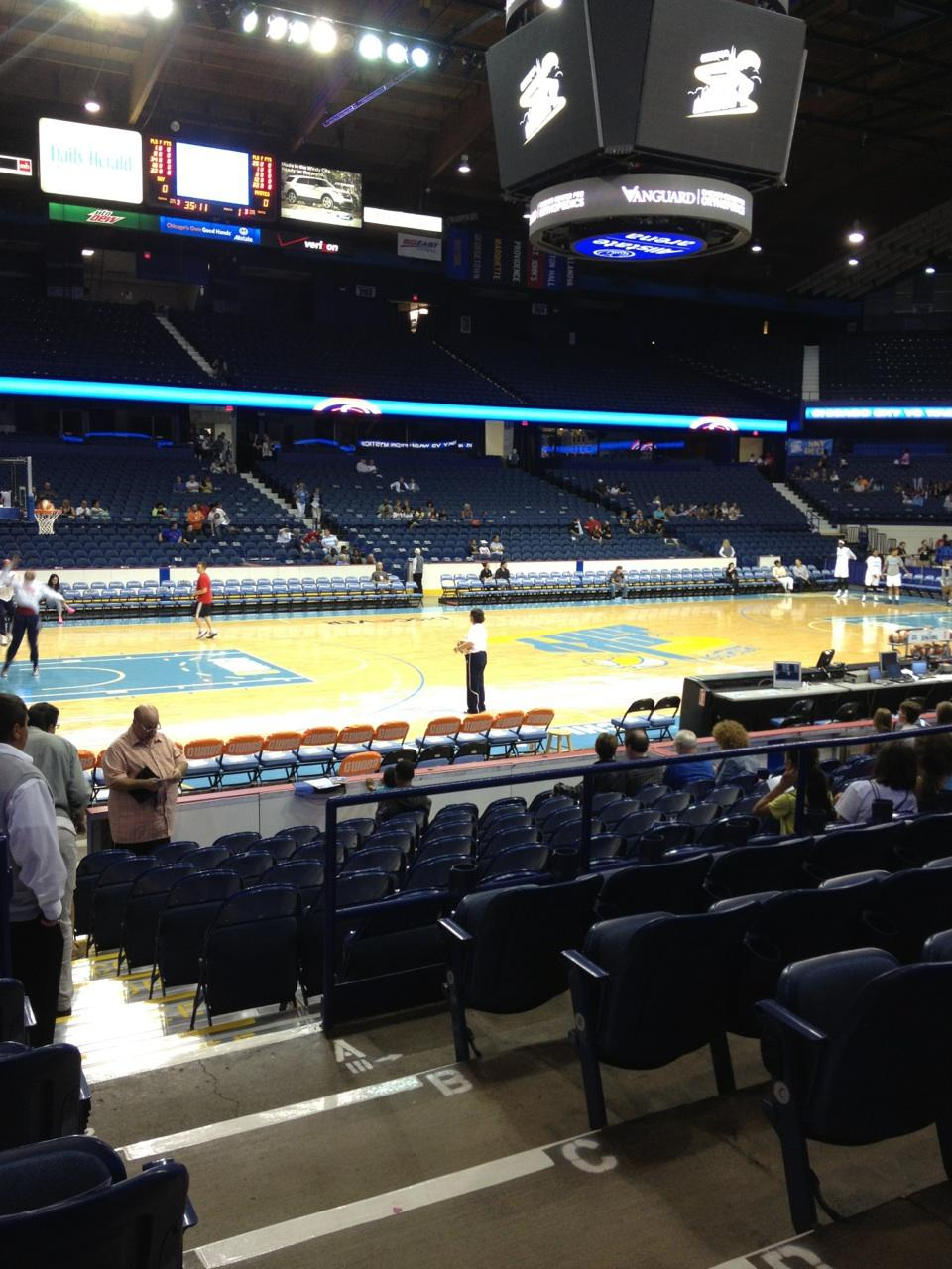 Seat View for Allstate Arena Section 112, Row F, Seat 2