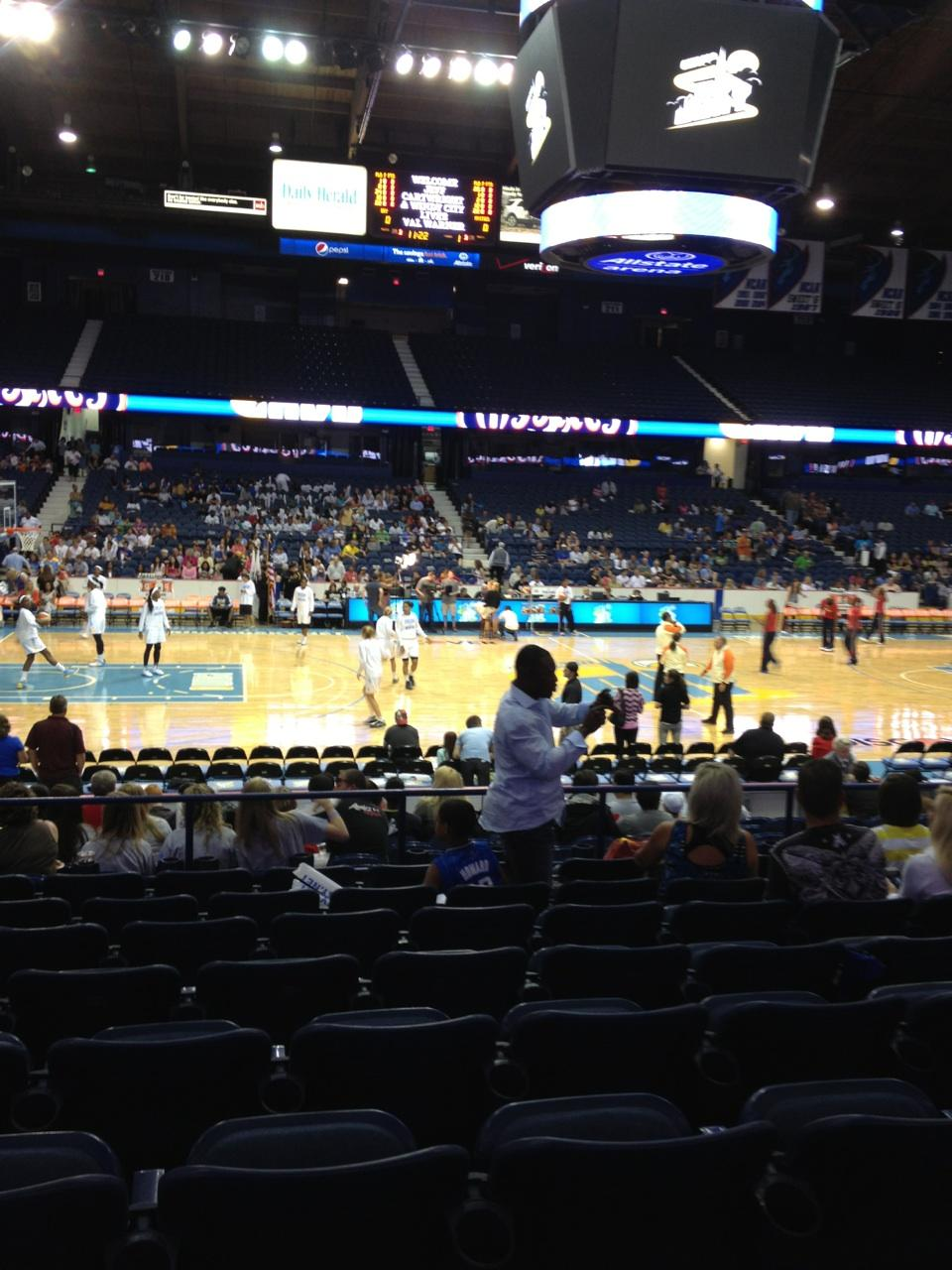 Seat View for Allstate Arena Section 103, Row J, Seat 17