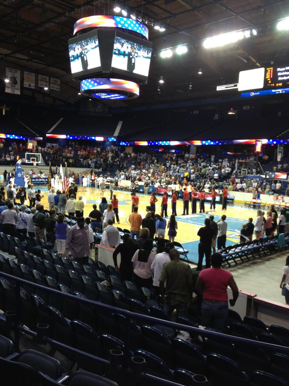 Seat View for Allstate Arena Section 101, Row D, Seat 1