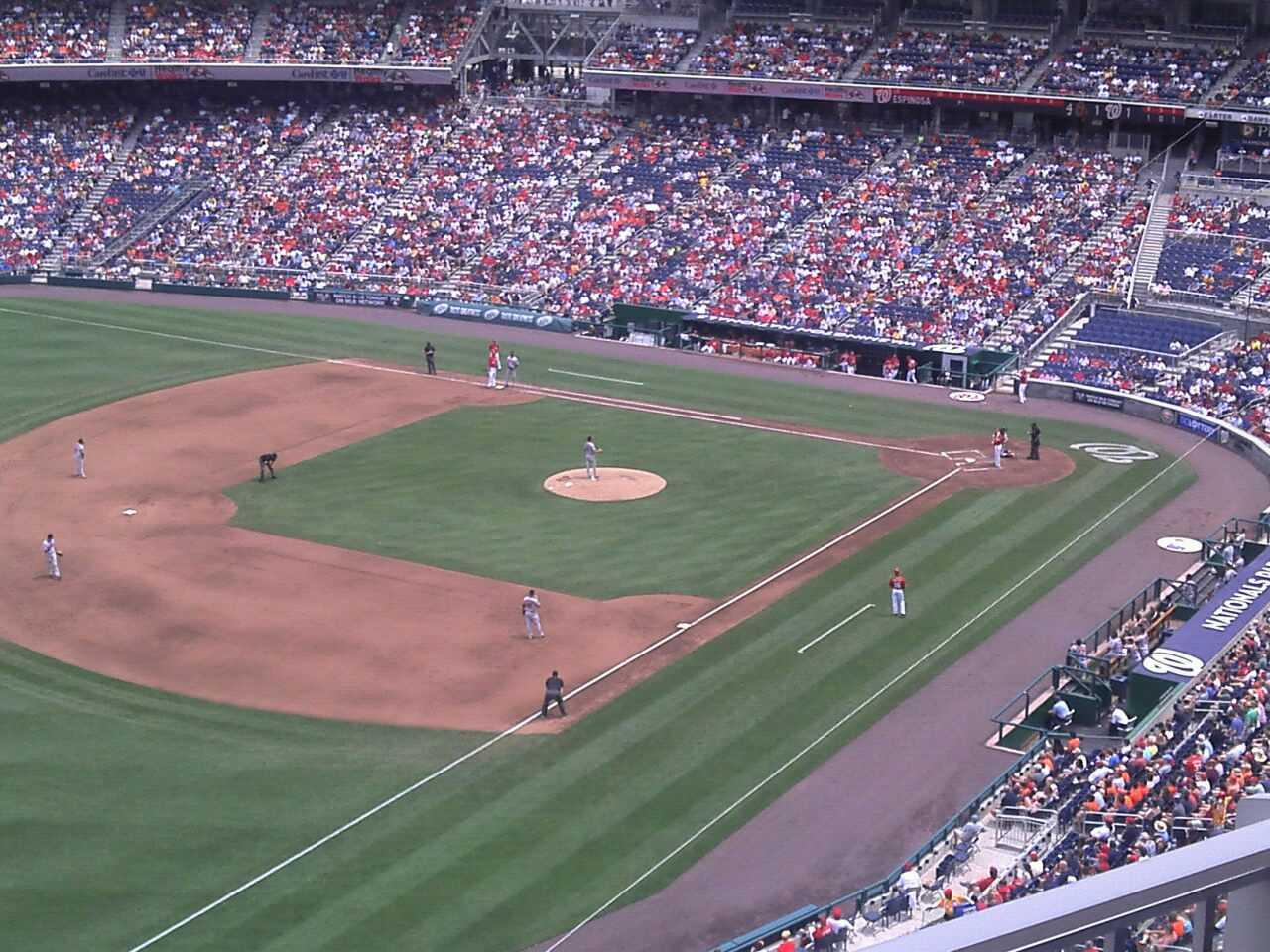 Nationals Park Section 303 Row k Seat 3