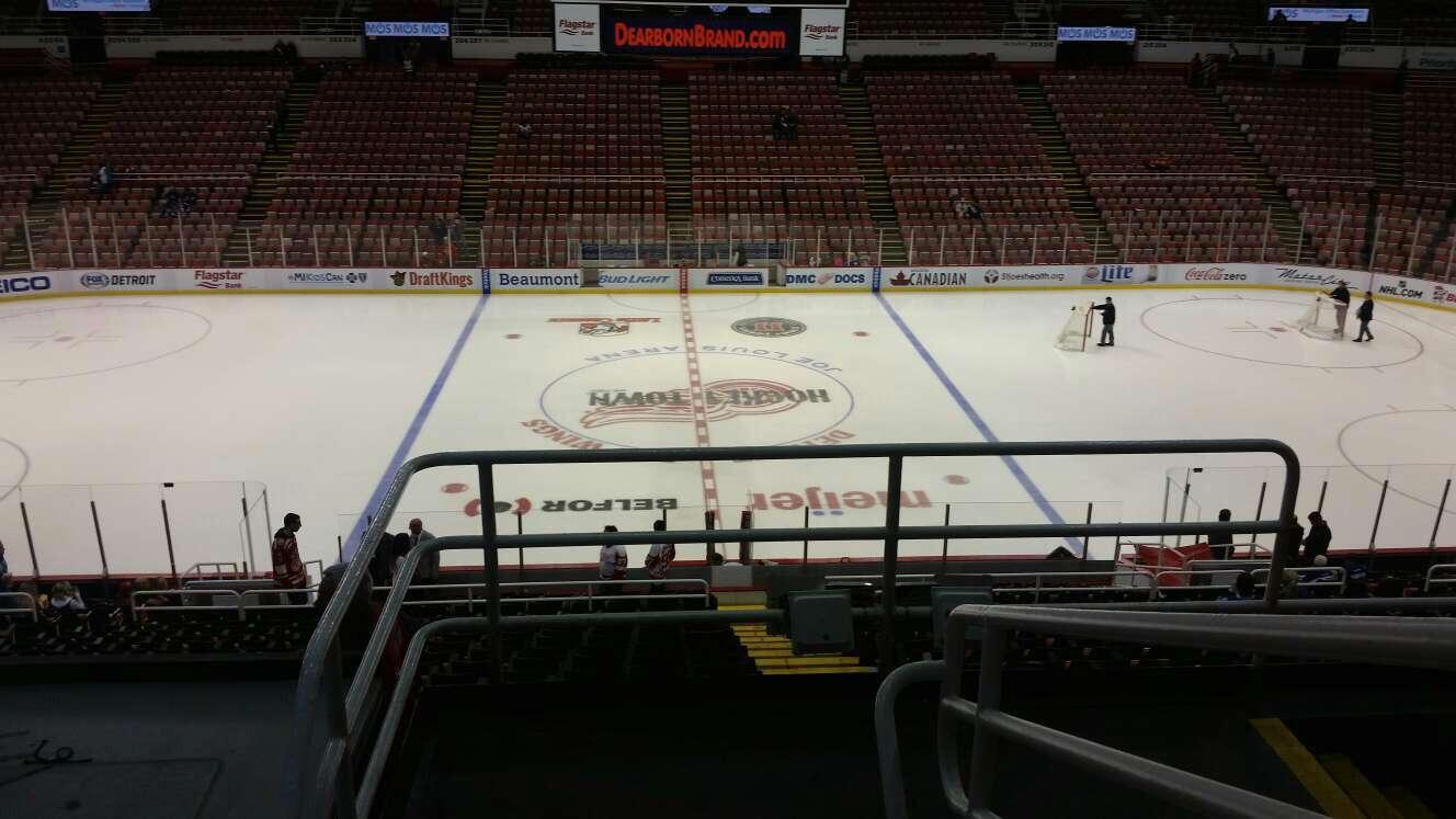Joe Louis Arena Section 222 Row 5 Seat 2