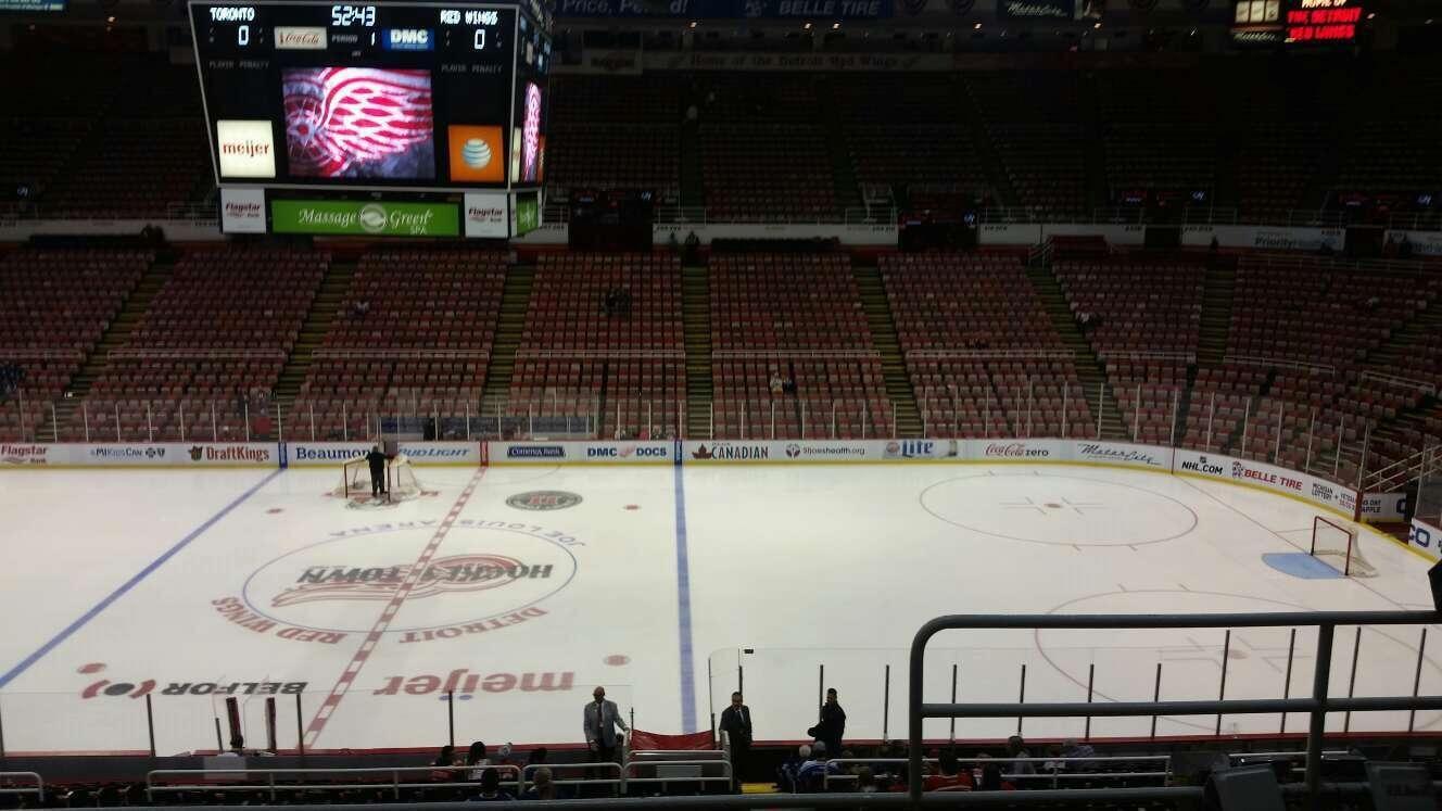 Joe Louis Arena Section 221 Row 5 Seat 2