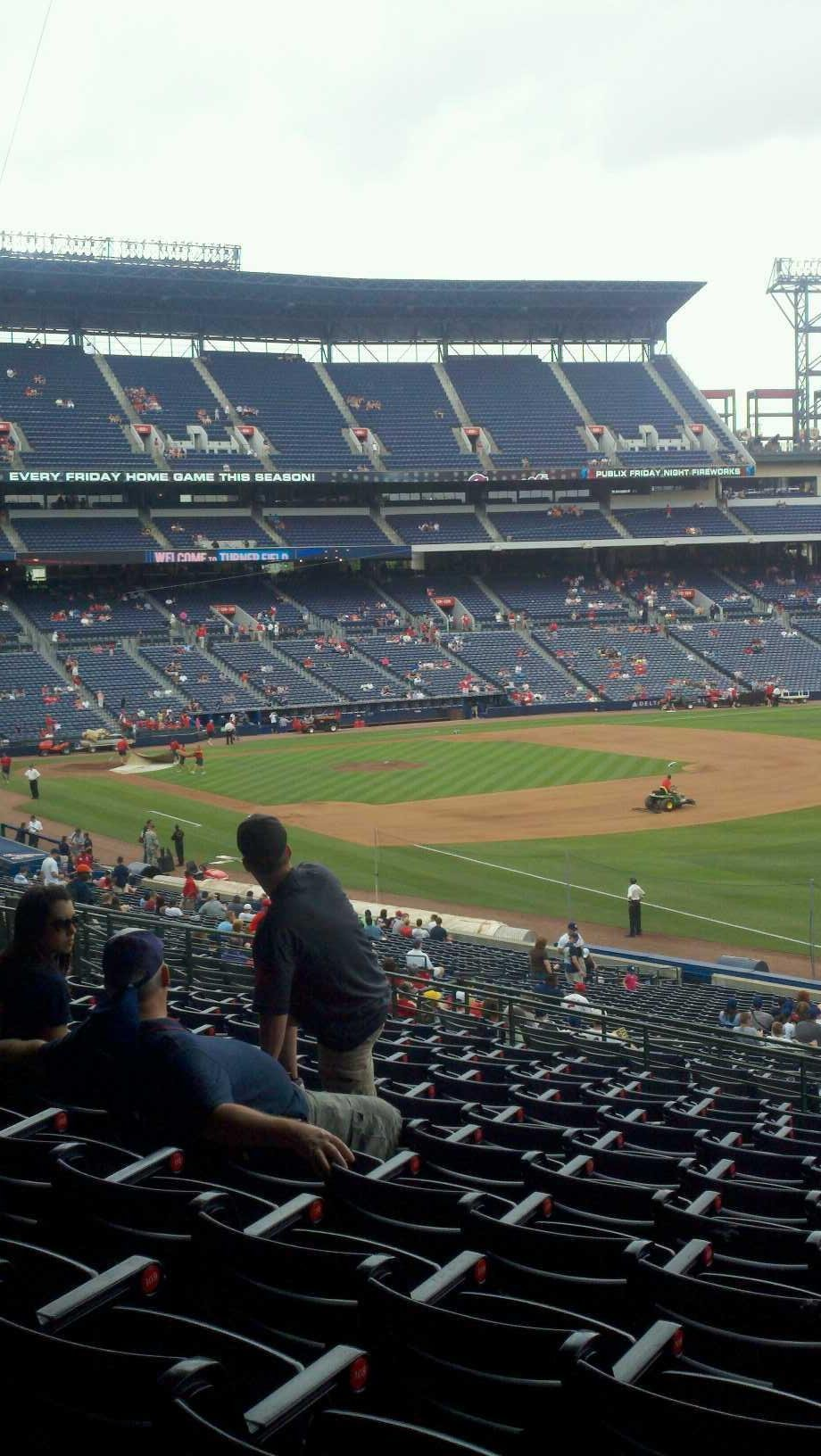 Turner Field Section 225 Row 11 Seat 5