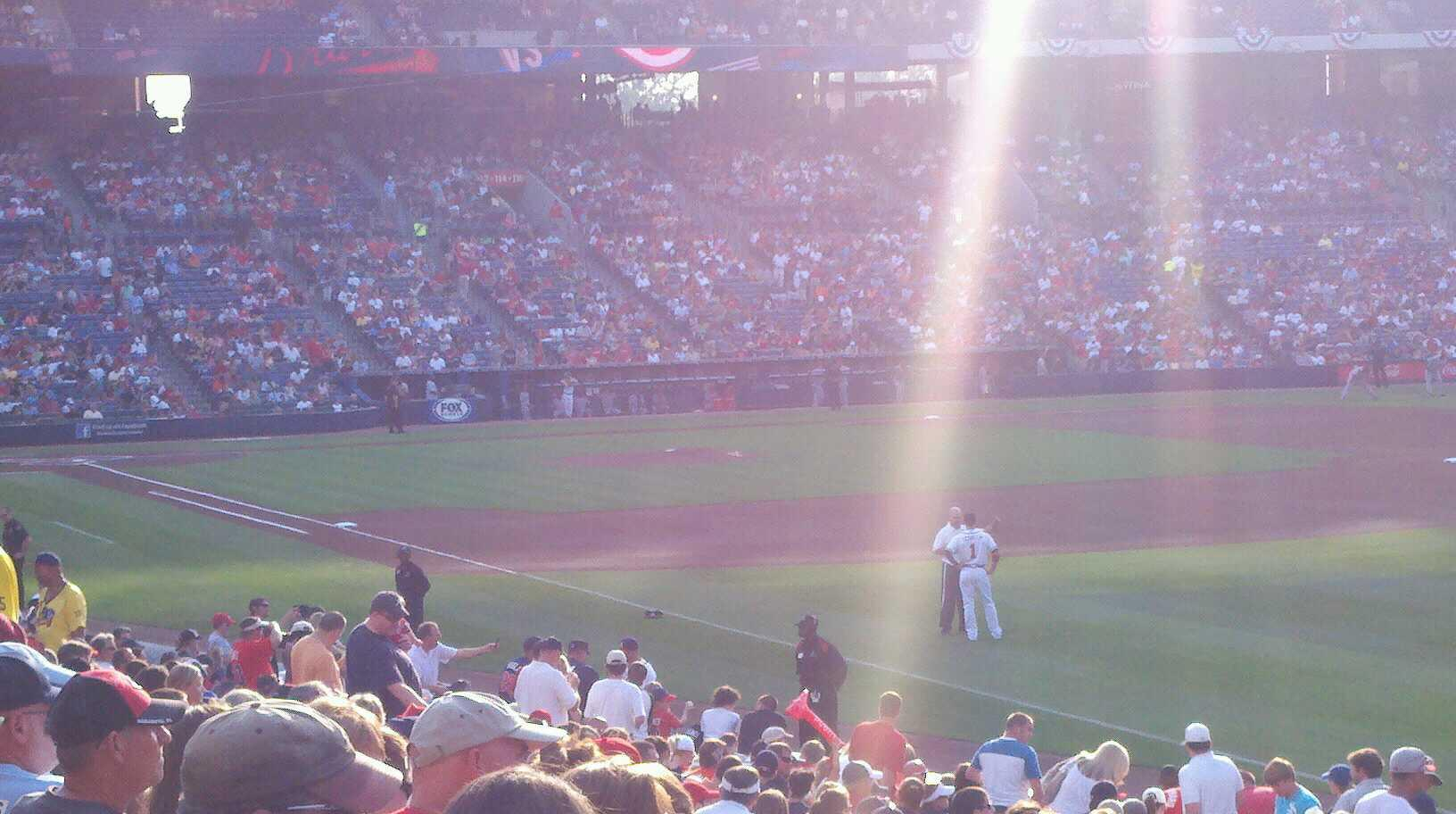 Turner Field Section 225 Row 23 Seat 4