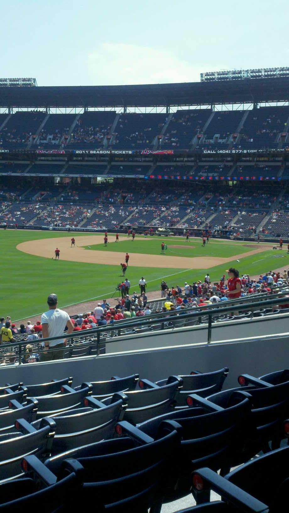 Turner Field Section 228 Row 4 Seat 8