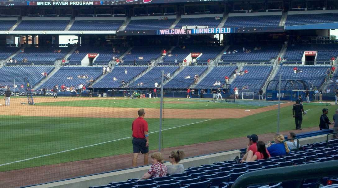 Turner Field Section 124 Row 10 Seat 2