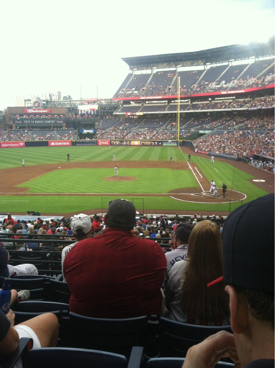 Turner Field Section 208 Row 5 Seat 109