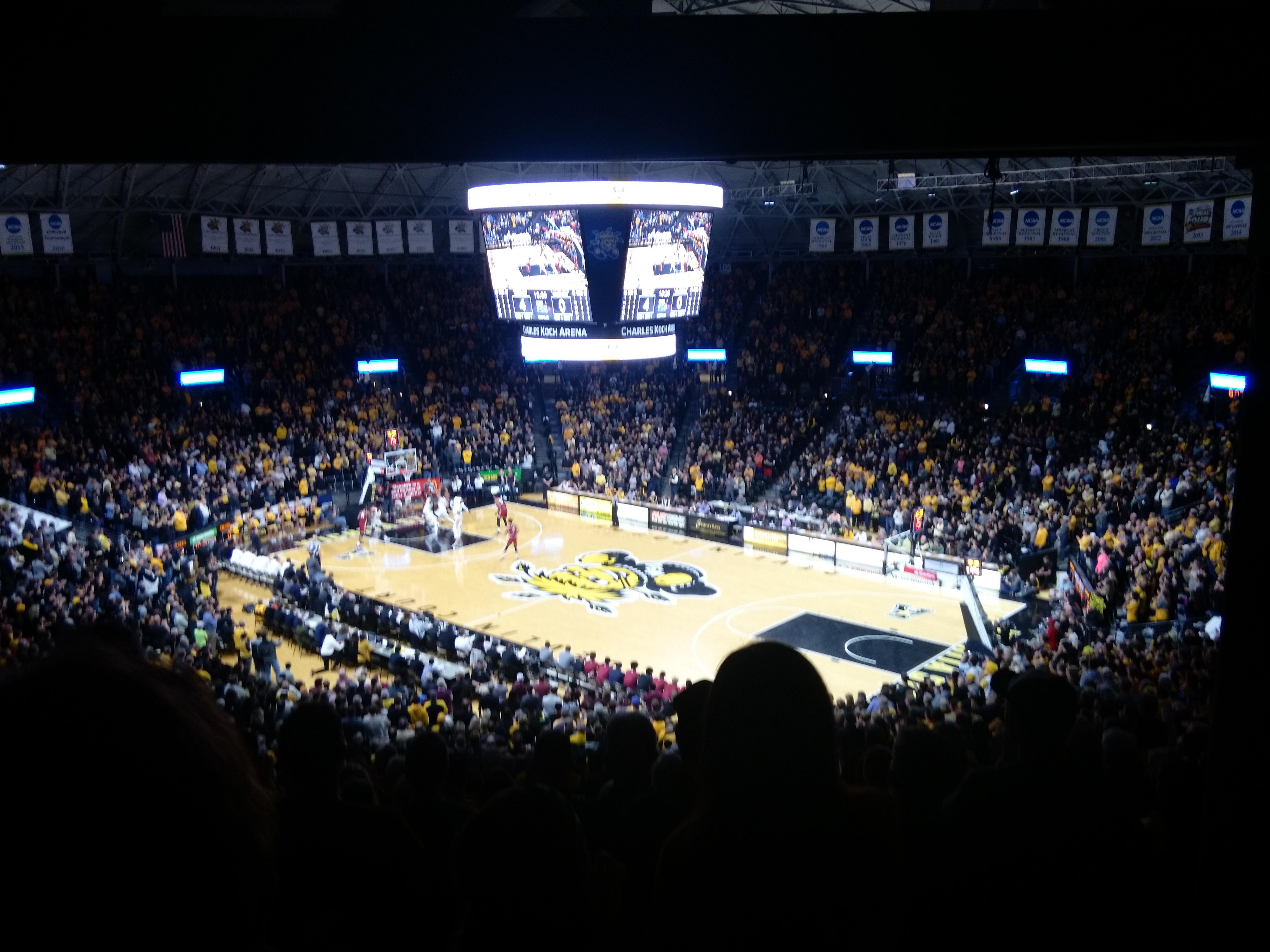 Charles Koch Arena Section 118 Row 34