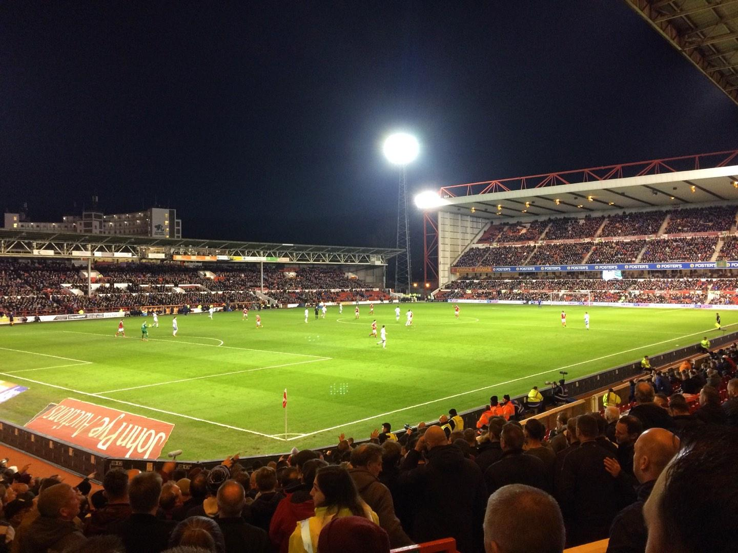 City Ground Section W1 Row S Seat 35