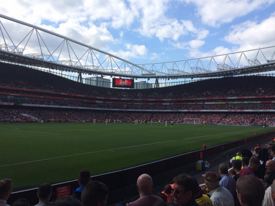 Emirates Stadium Section 20 Row 6 Seat 628