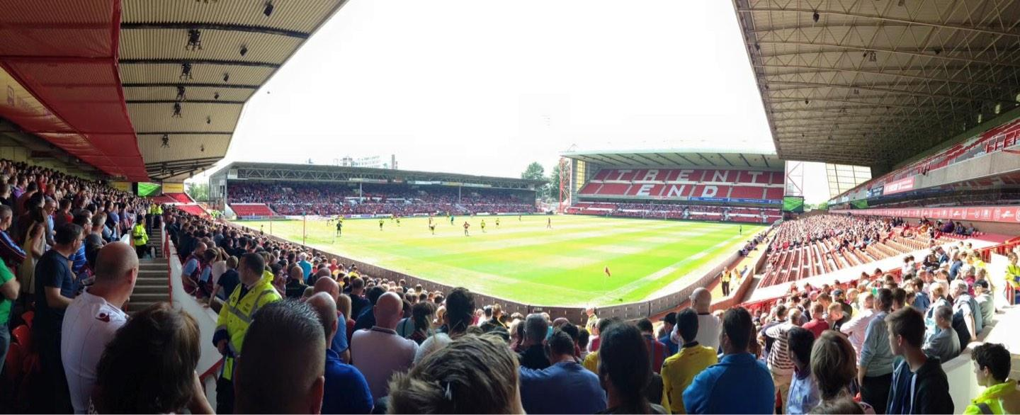 City Ground Section W1 Row Q Seat 56