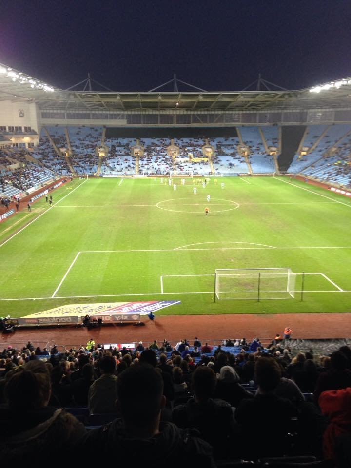 Ricoh Arena Section 8 Row XX Seat 25