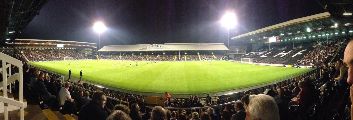 Craven Cottage Section W Row H Seat 29
