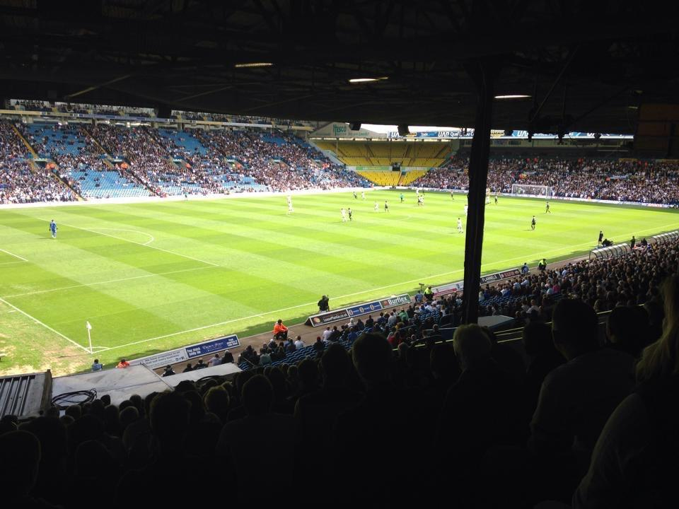 Elland Road Section F23 Row S Seat 26